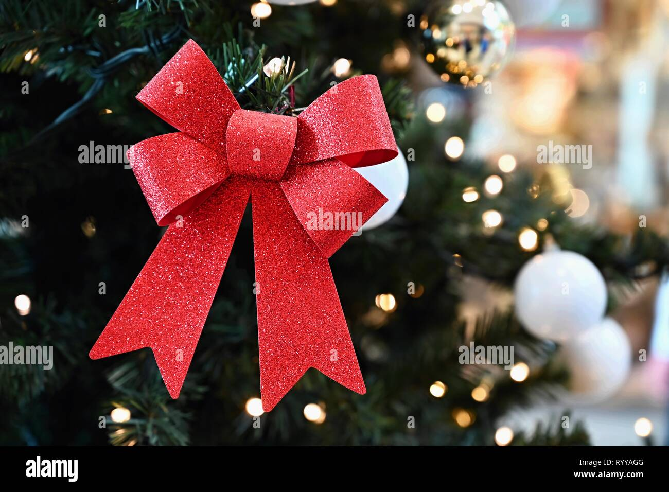 Beautiful Colorful Christmas Decorations Christmas Tree Concept For Winter Time And Holiday Season Stock Photo Alamy