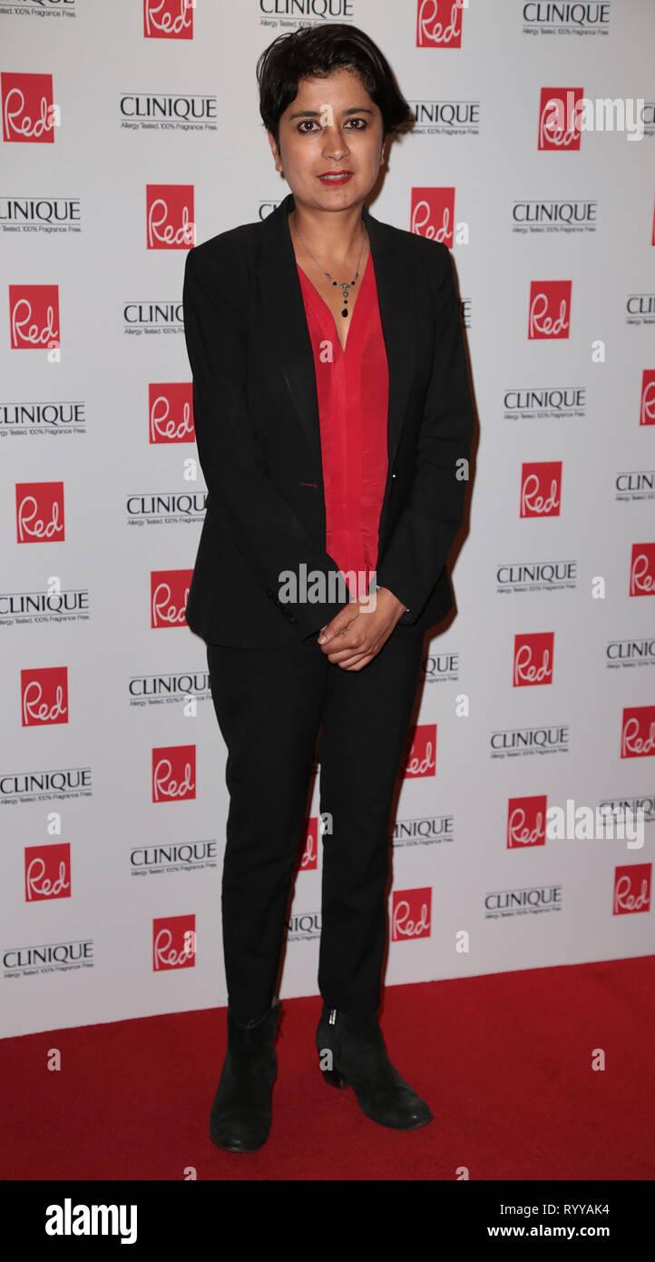 Sep 03, 2014 - London, England, UK - Red Women Of The Year Awards , The Ham Yard Hotel, Soho, London Photo Shows: Shami Chakrabarti - Stock Image