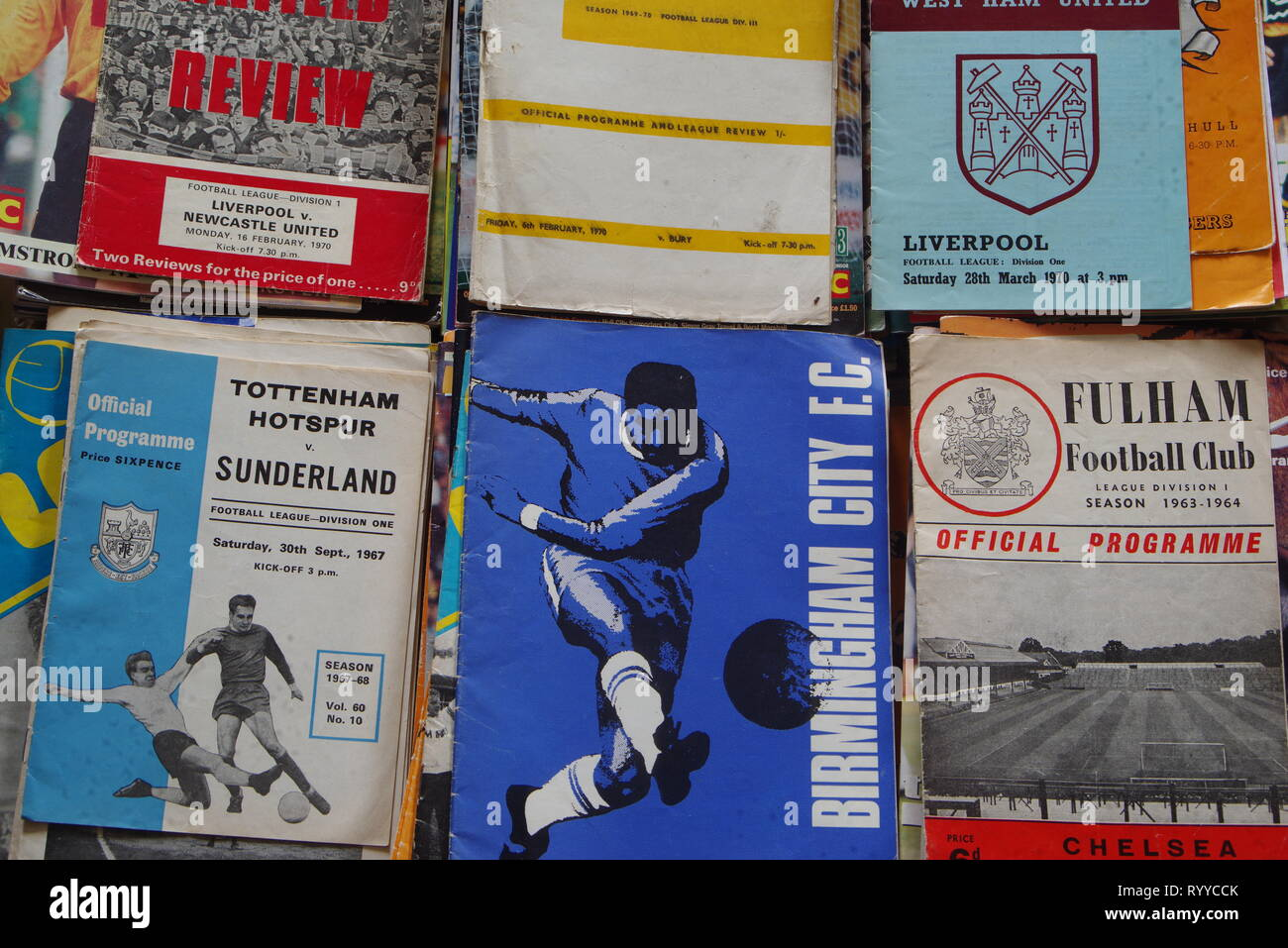 football programme collection - Stock Image