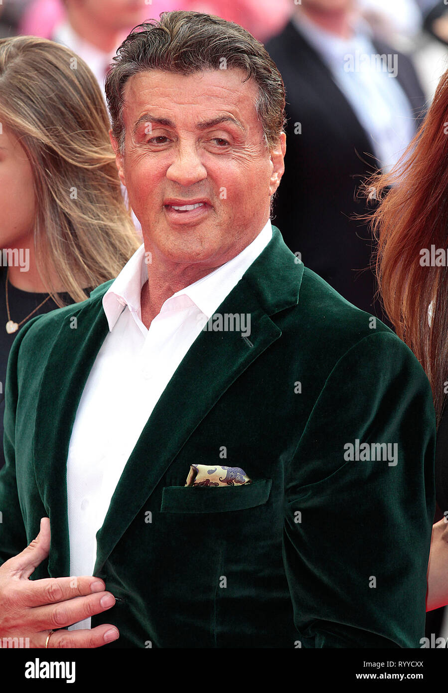 Aug 04, 2014 - London, England, UK - The Expendables 3 World Premiere, Odeon, Leicester Square Photo Shows: Sylvester Stallone - Stock Image