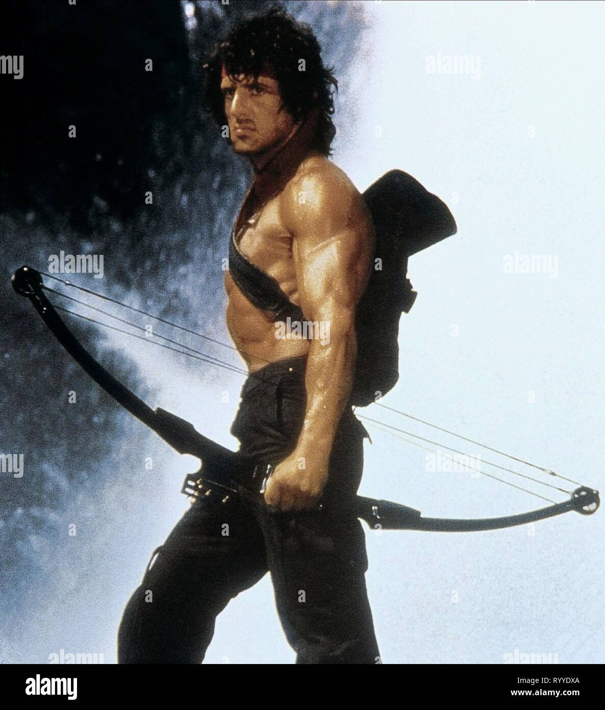 SYLVESTER STALLONE, RAMBO: FIRST BLOOD PART II, 1985 - Stock Image