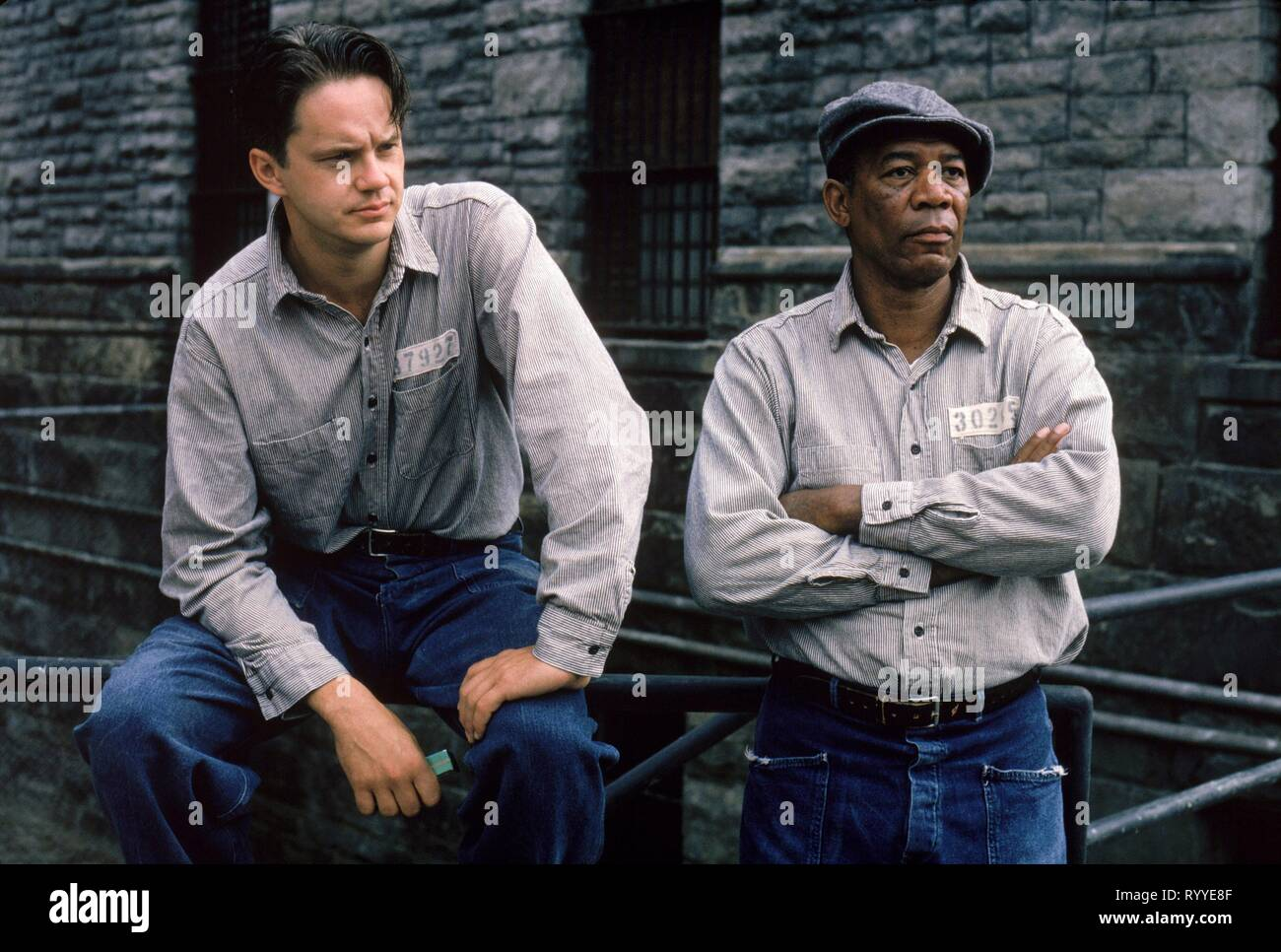 ROBBINS,FREEMAN, THE SHAWSHANK REDEMPTION, 1994 - Stock Image