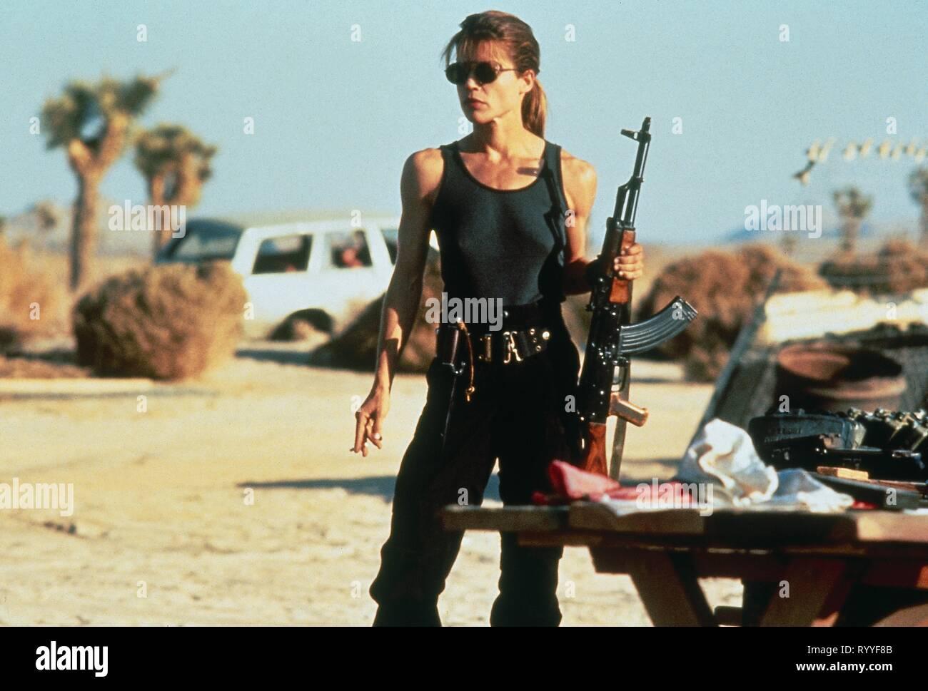 LINDA HAMILTON, TERMINATOR 2: JUDGMENT DAY, 1991 - Stock Image