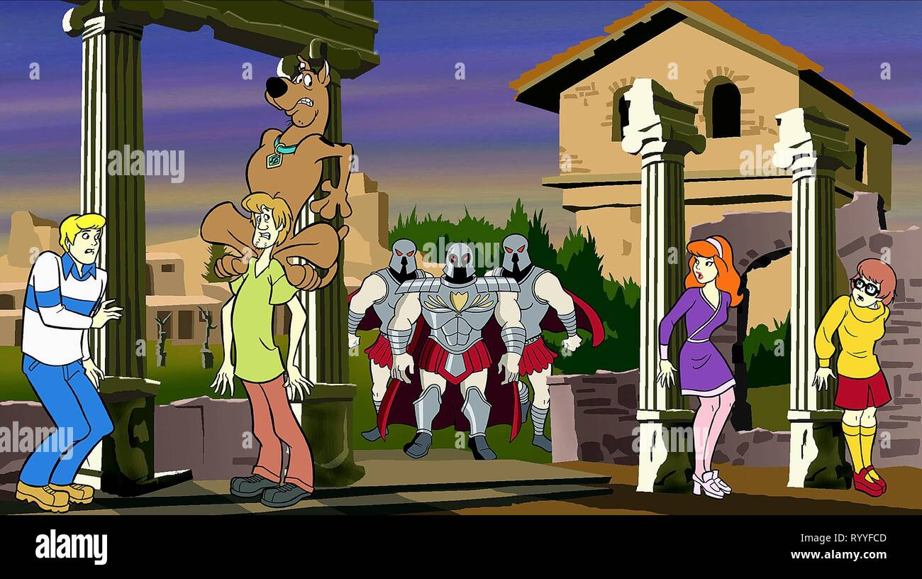 FRED, SCOOBY, SHAGGY, DAPHNE,VELMA, WHAT'S NEW  SCOOBY-DOO?, 2002 - Stock Image