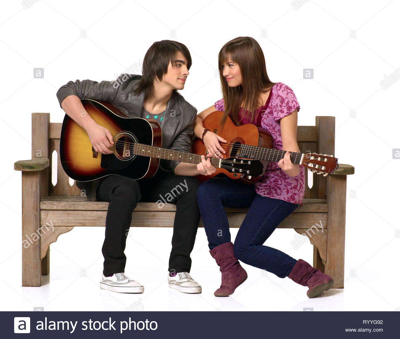 JONAS,LOVATO, CAMP ROCK, 2008 - Stock Image