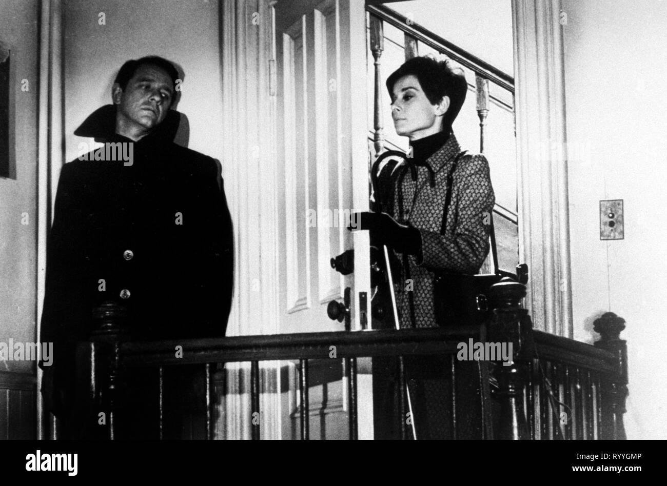 CRENNA,HEPBURN, WAIT UNTIL DARK, 1967 - Stock Image