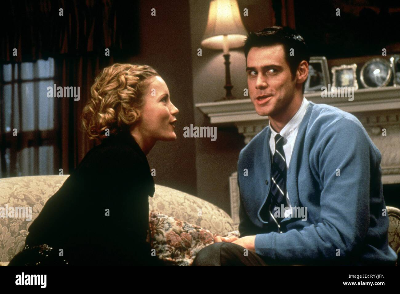 LESLIE MANN, JIM CARREY, THE CABLE GUY, 1996 - Stock Image