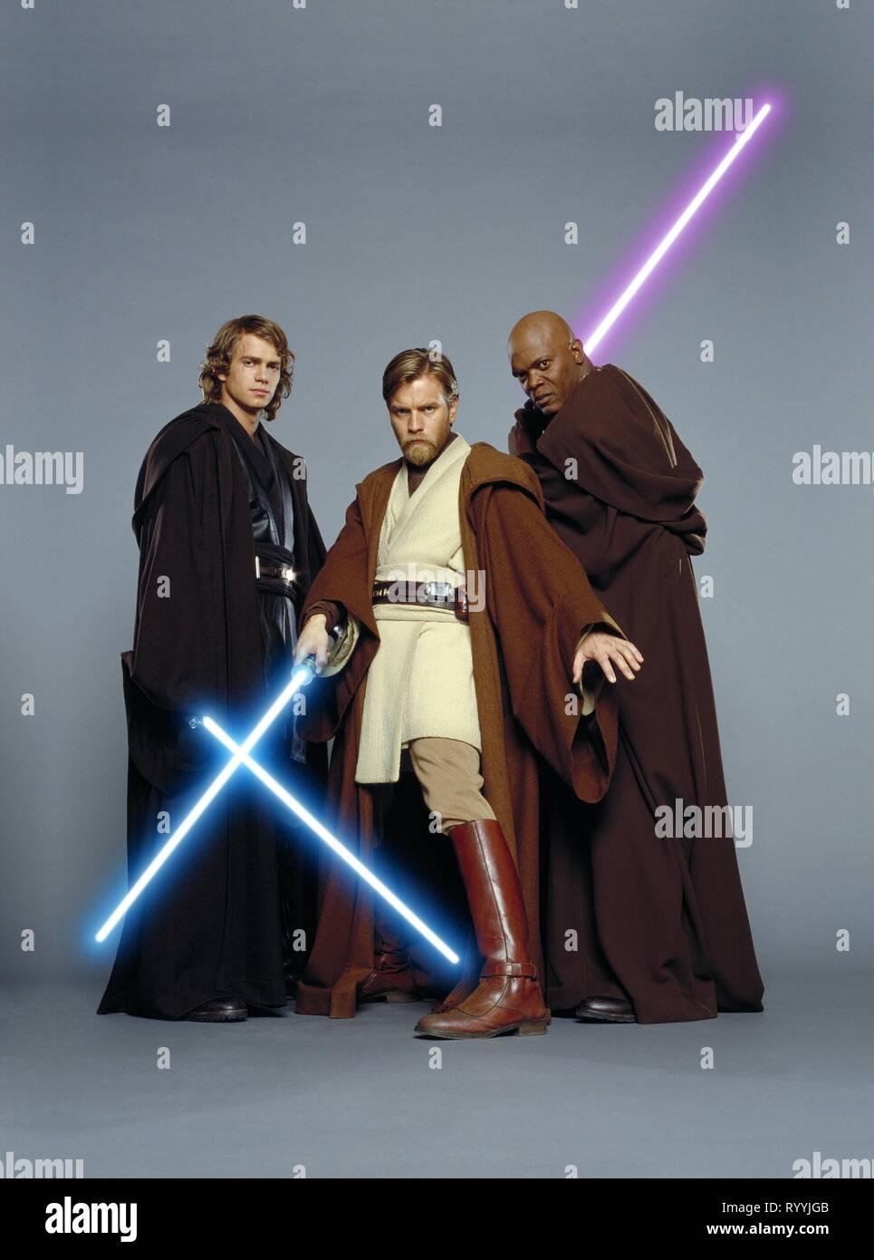 Hayden Christensen Ewan Mcgregor Samuel L Jackson Star Wars Episode Iii Revenge Of The Sith 2005 Stock Photo Alamy