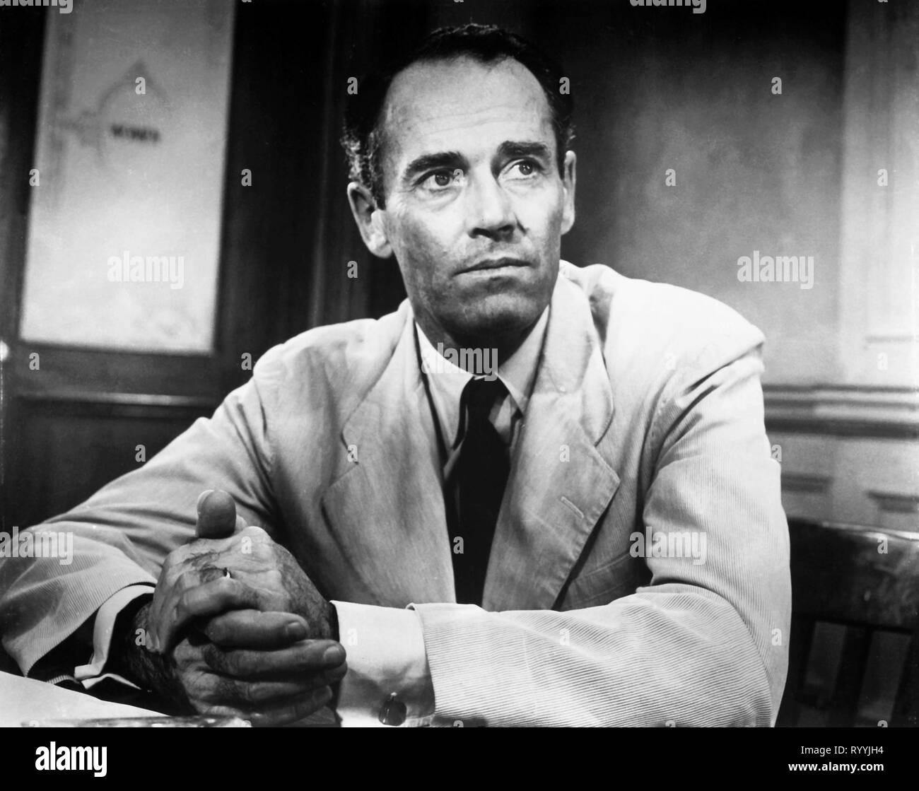 HENRY FONDA, 12 ANGRY MEN, 1957 - Stock Image