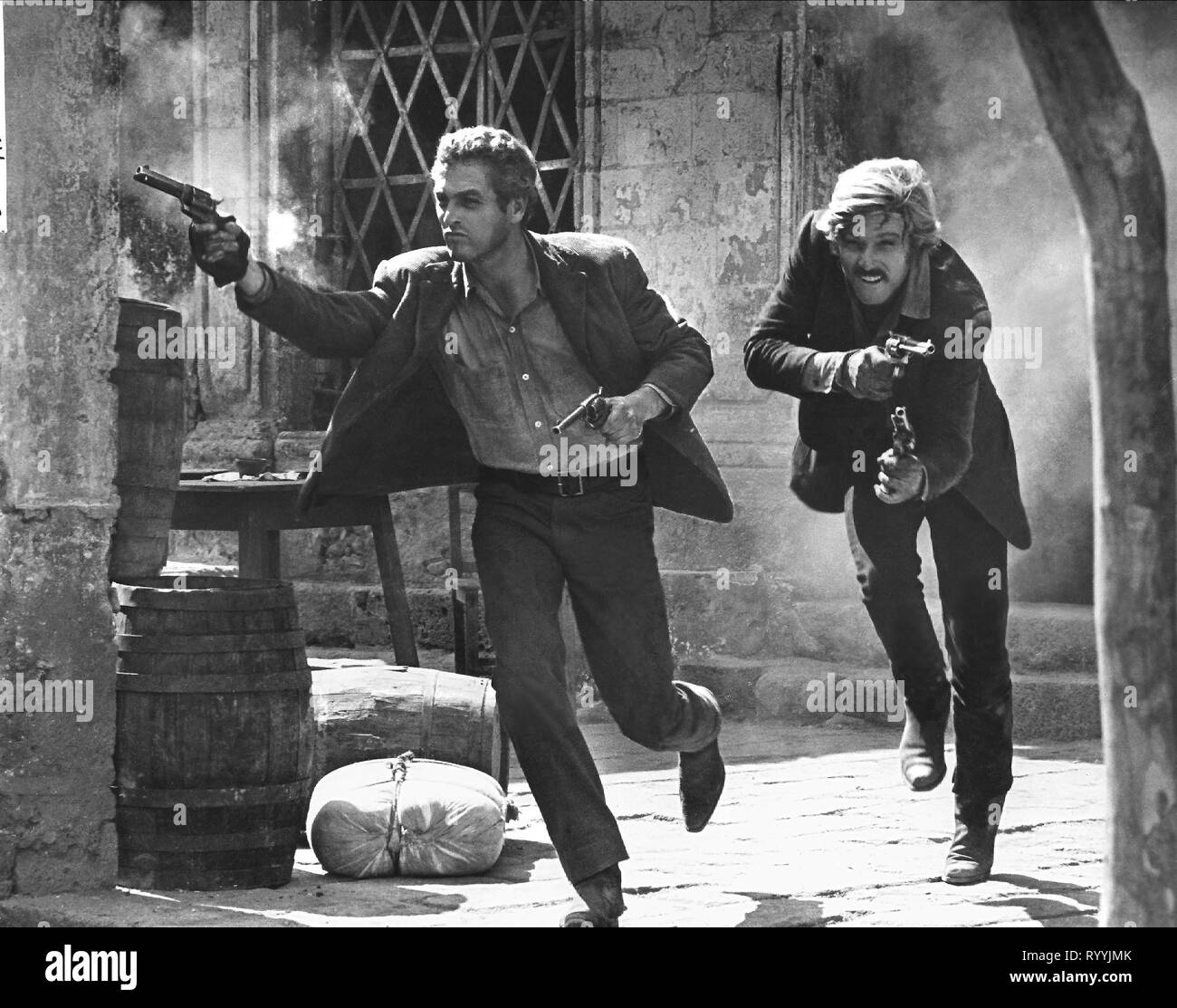 PAUL NEWMAN, ROBERT REDFORD, BUTCH CASSIDY AND THE SUNDANCE KID, 1969 - Stock Image