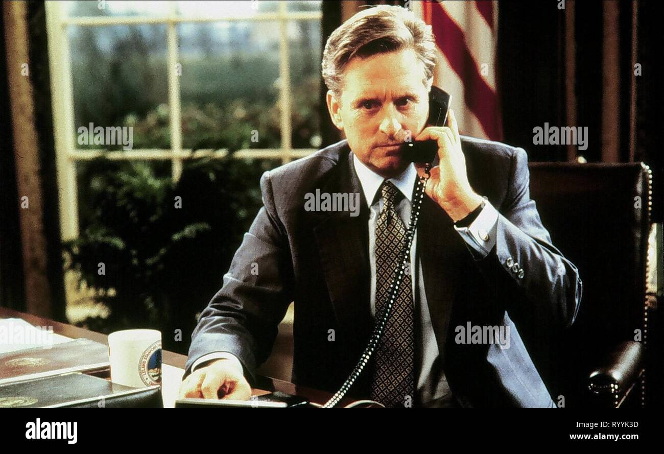 MICHAEL DOUGLAS, THE AMERICAN PRESIDENT, 1995 - Stock Image