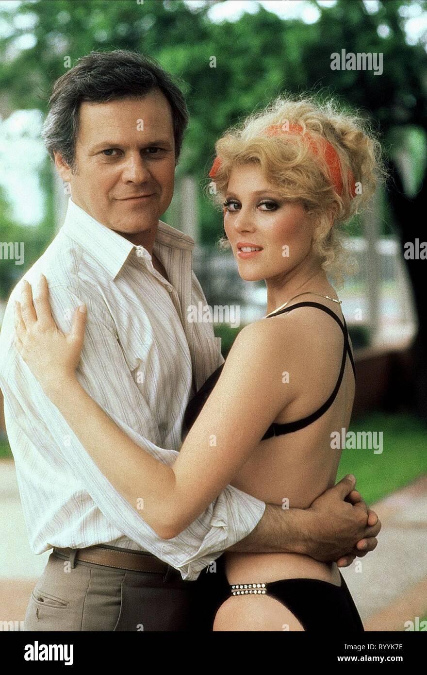 Audrey Landers Dallas ken kercheval, audrey landers, dallas, 1982 stock photo