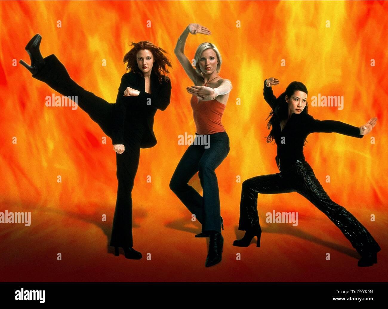 Drew Barrymore Cameron Diaz Lucy Liu Charlie S Angels 2000 Stock Photo Alamy