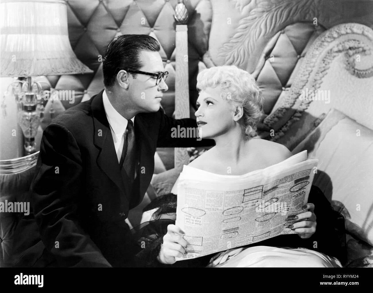 WILLIAM HOLDEN, JUDY HOLLIDAY, BORN YESTERDAY, 1950 - Stock Image