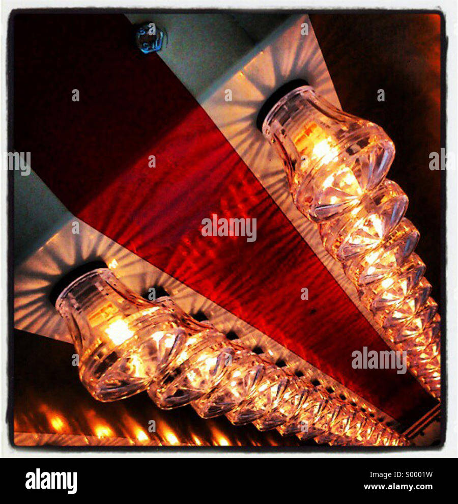 Jaunty angle of carnival lights - Stock Image
