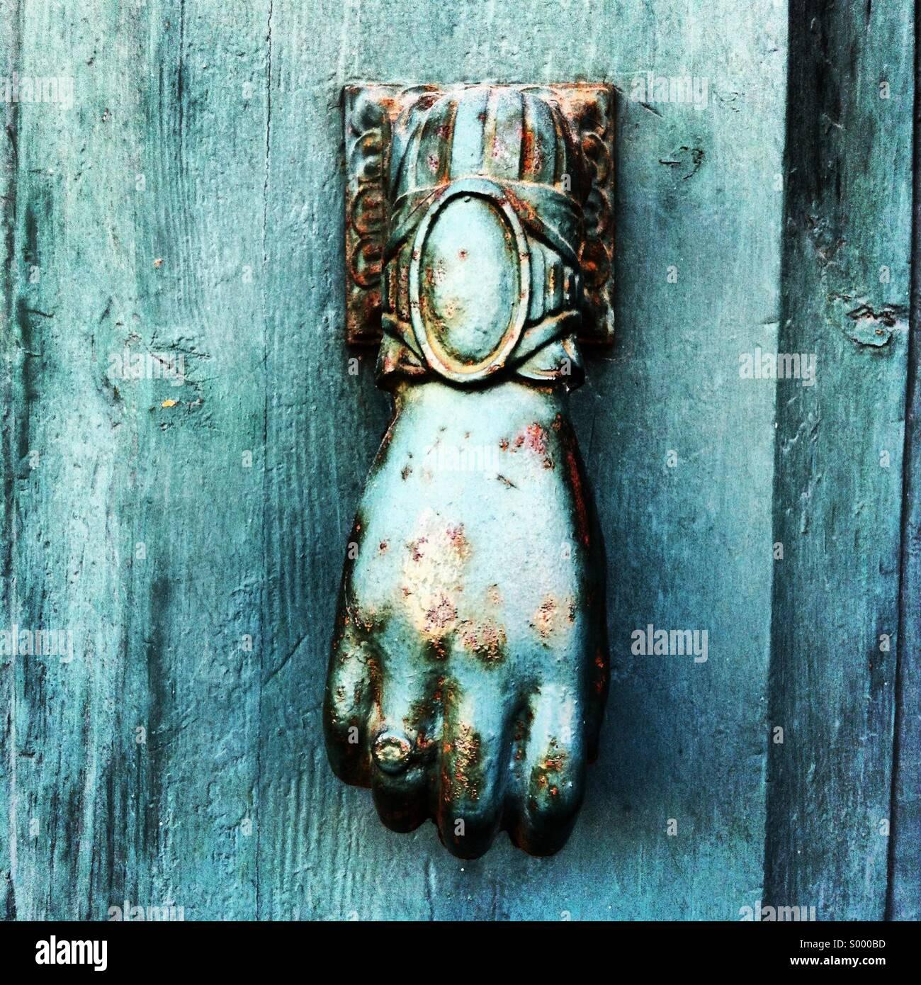 Hand knocker - Stock Image