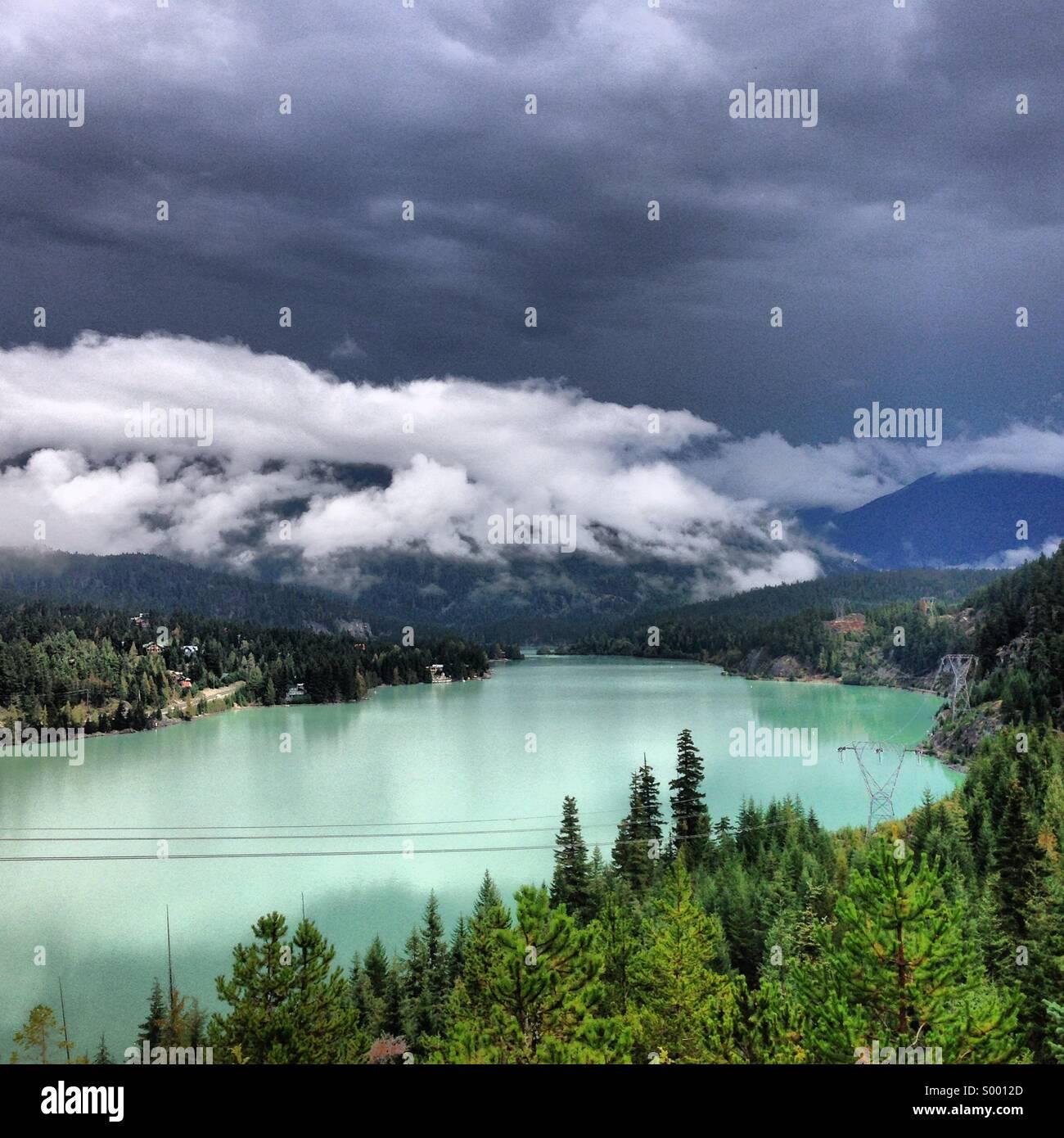 Green Lake, Whistler, Canada - Stock Image