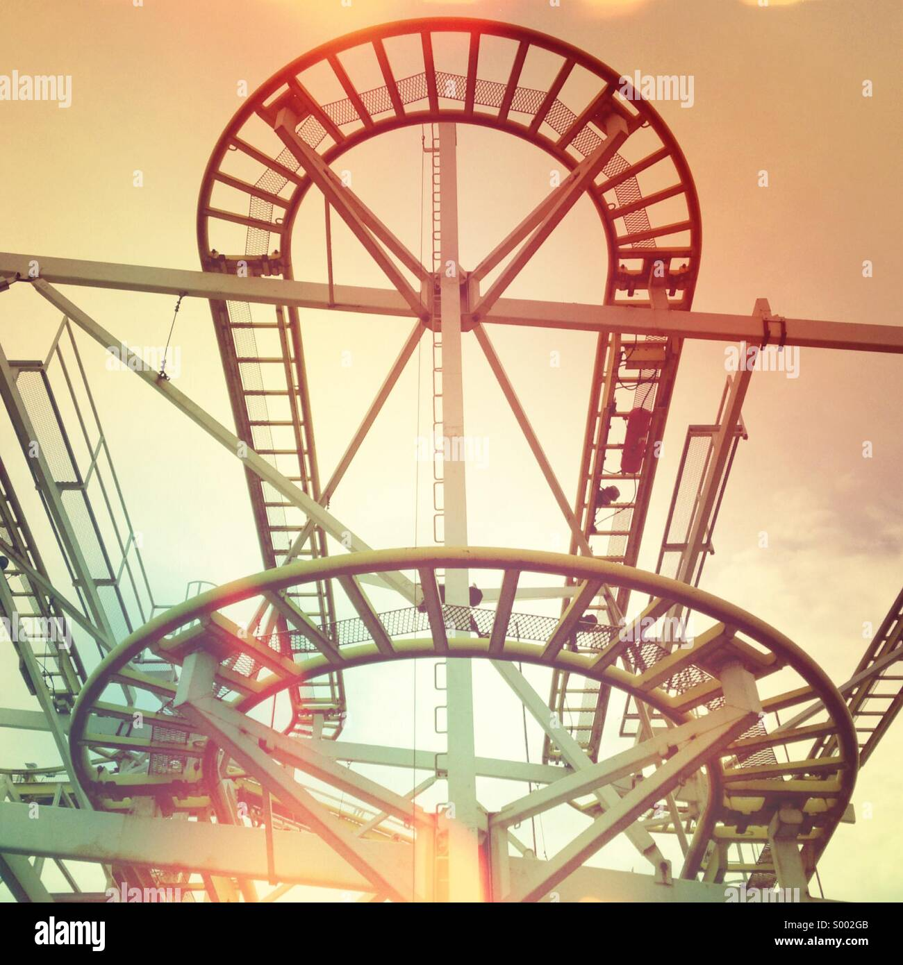 Graphic roller coaster frame - Stock Image