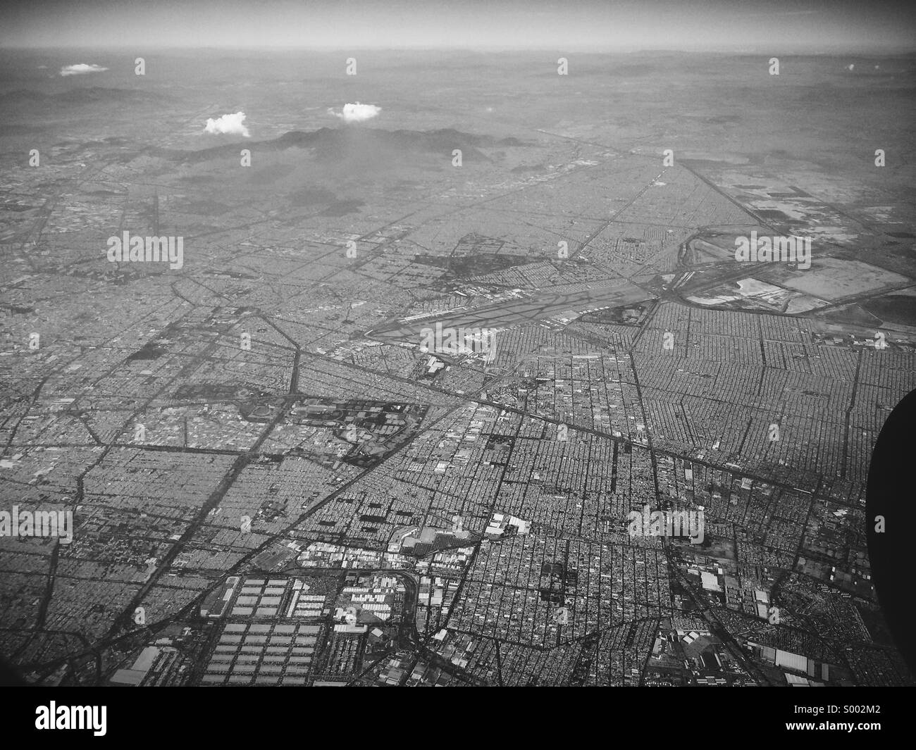Aerial view of Mexico City - Stock Image