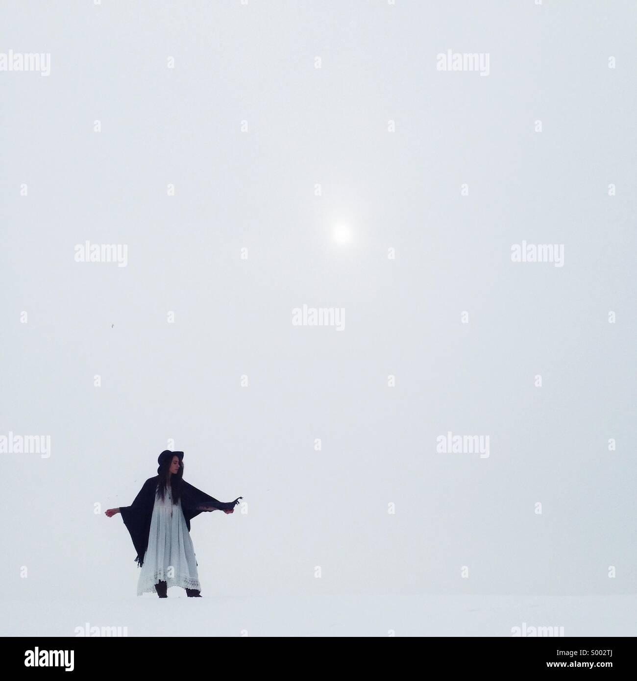 Winter minimalism Stock Photo