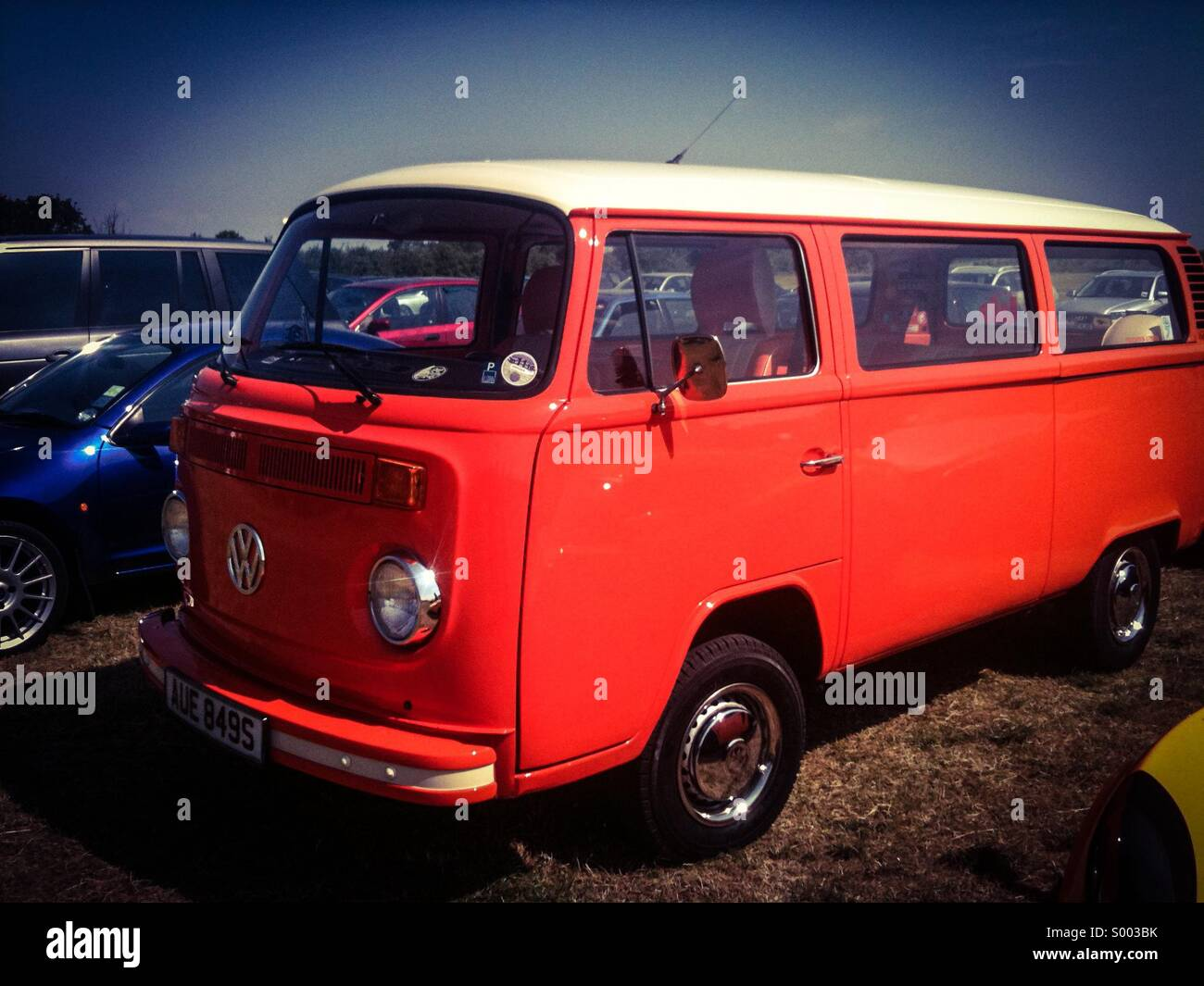 Orange VW Bus - Stock Image