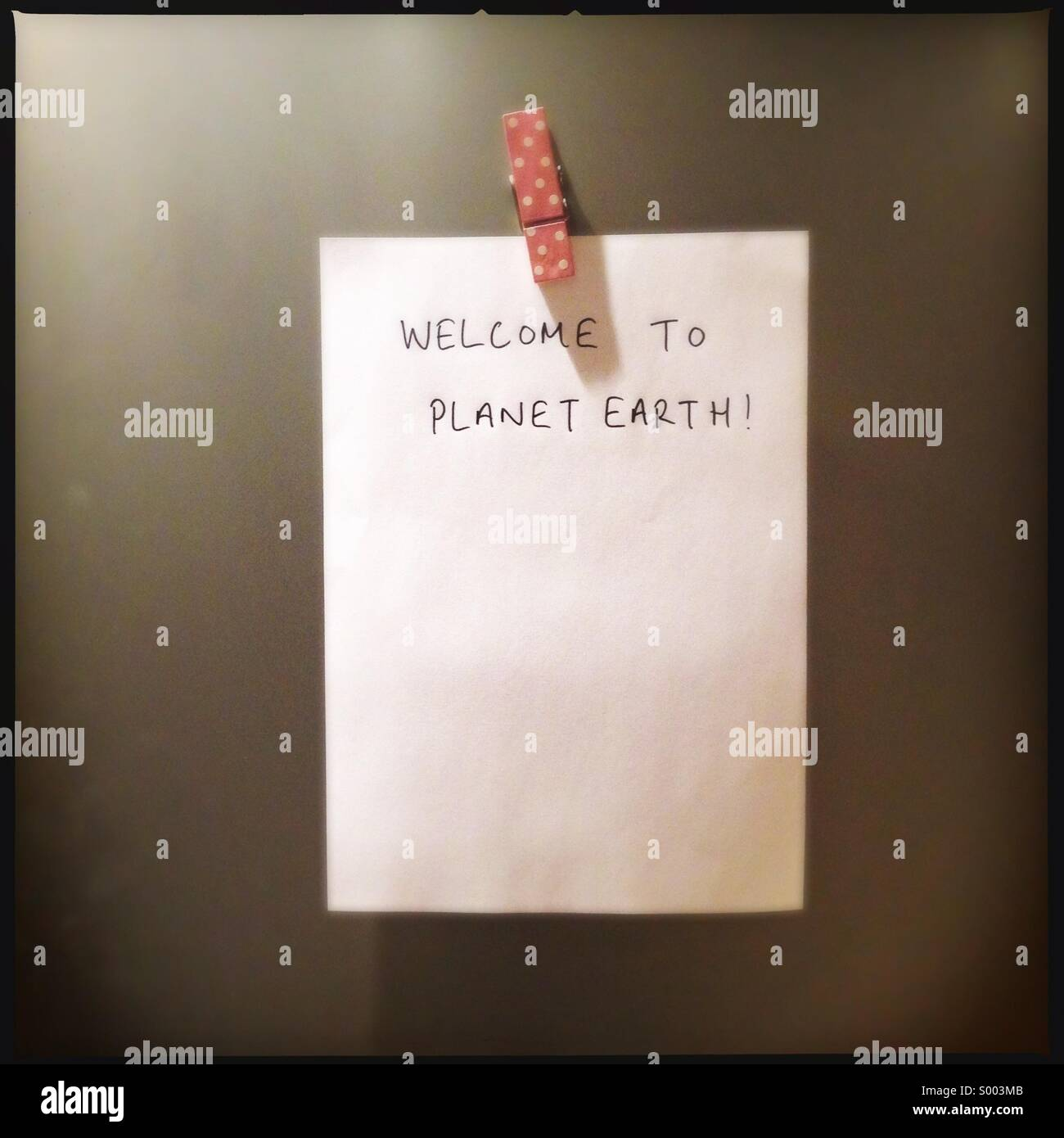 Welcome to Planet Earth! - Stock Image