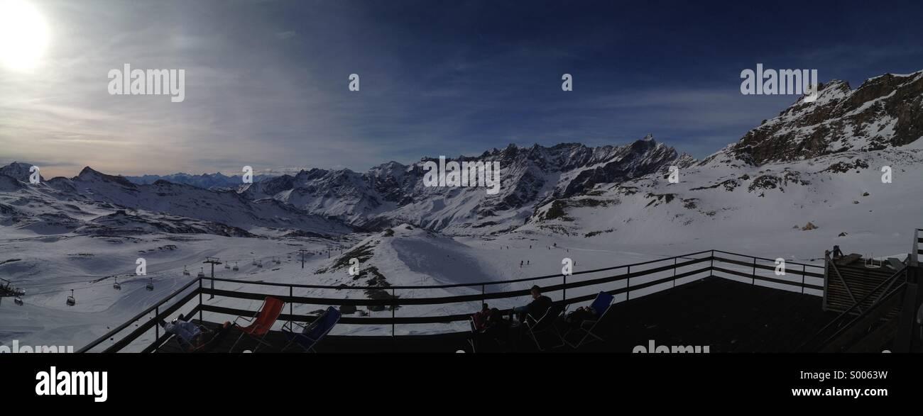 Cervinia, Italian Alps. - Stock Image