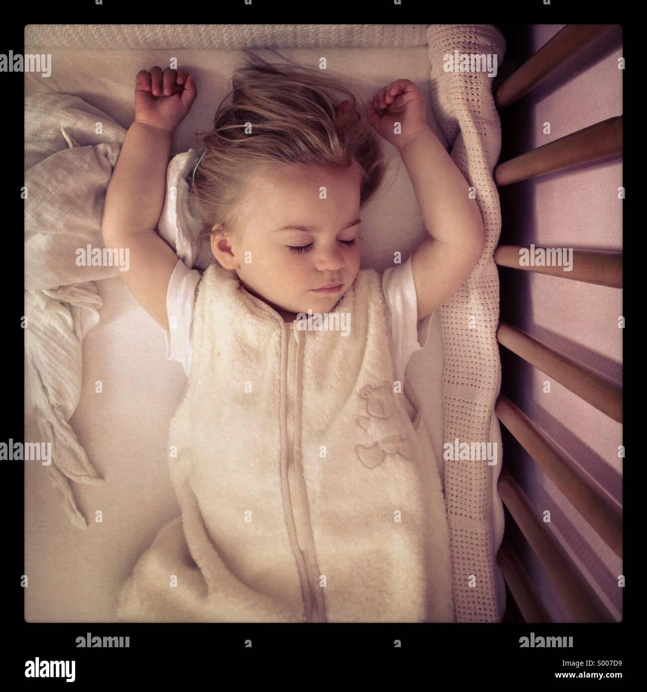 Sleeping baby - Stock Image
