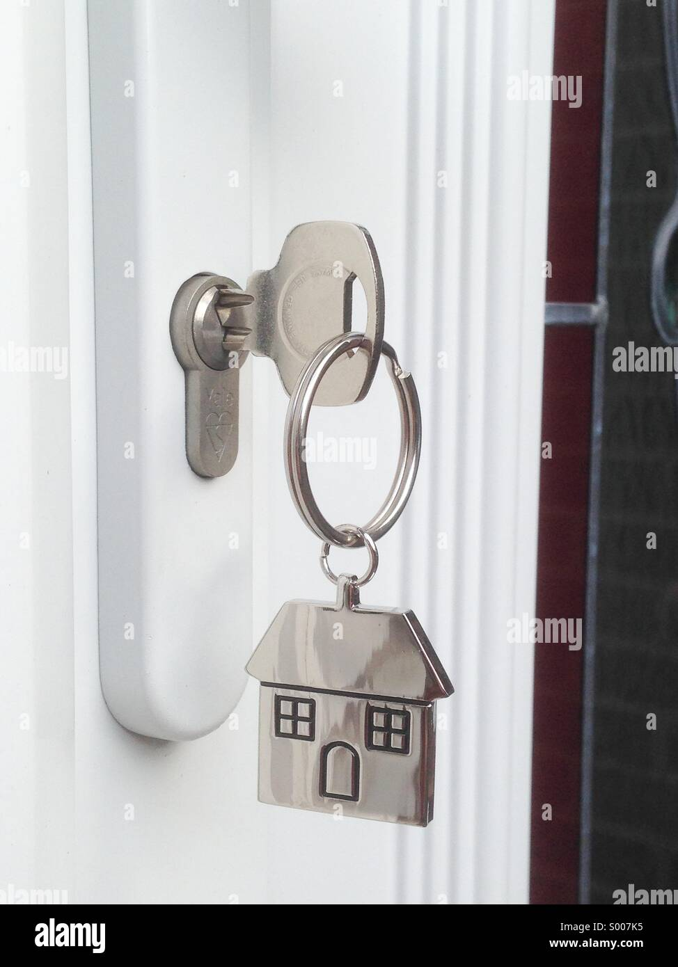 Delicieux Front Door Key And House Key Tag   Stock Image