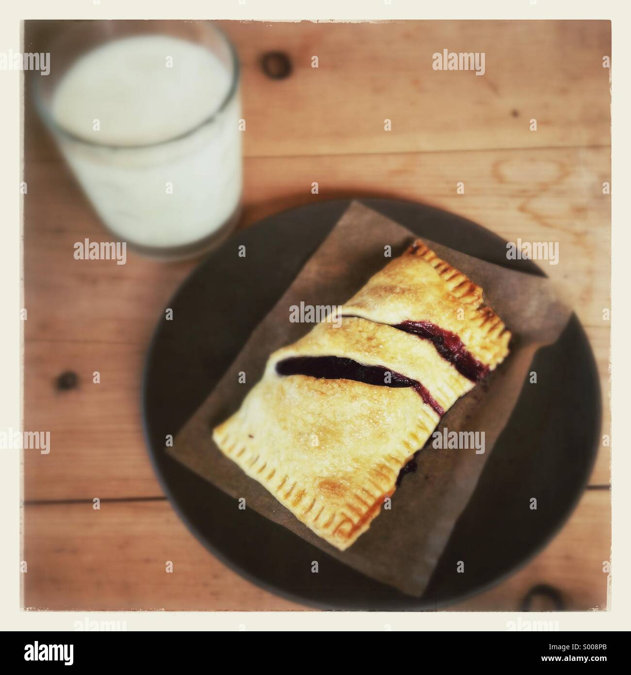 Blueberry hand pie - Stock Image