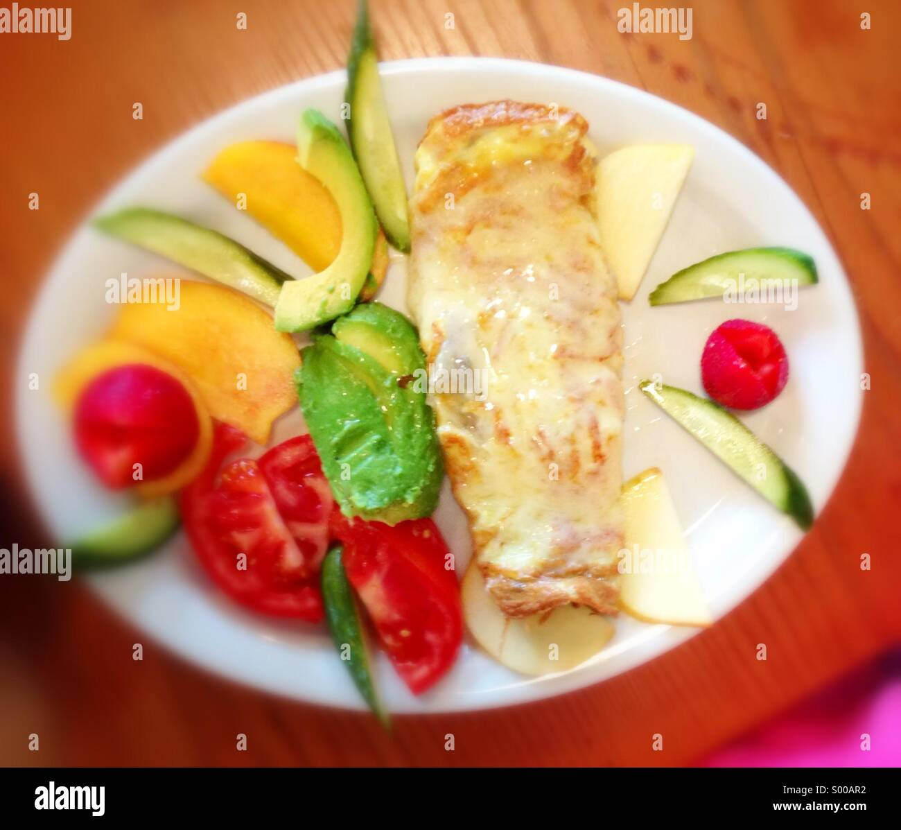 Colorful breakfast omelette.Stock Photo