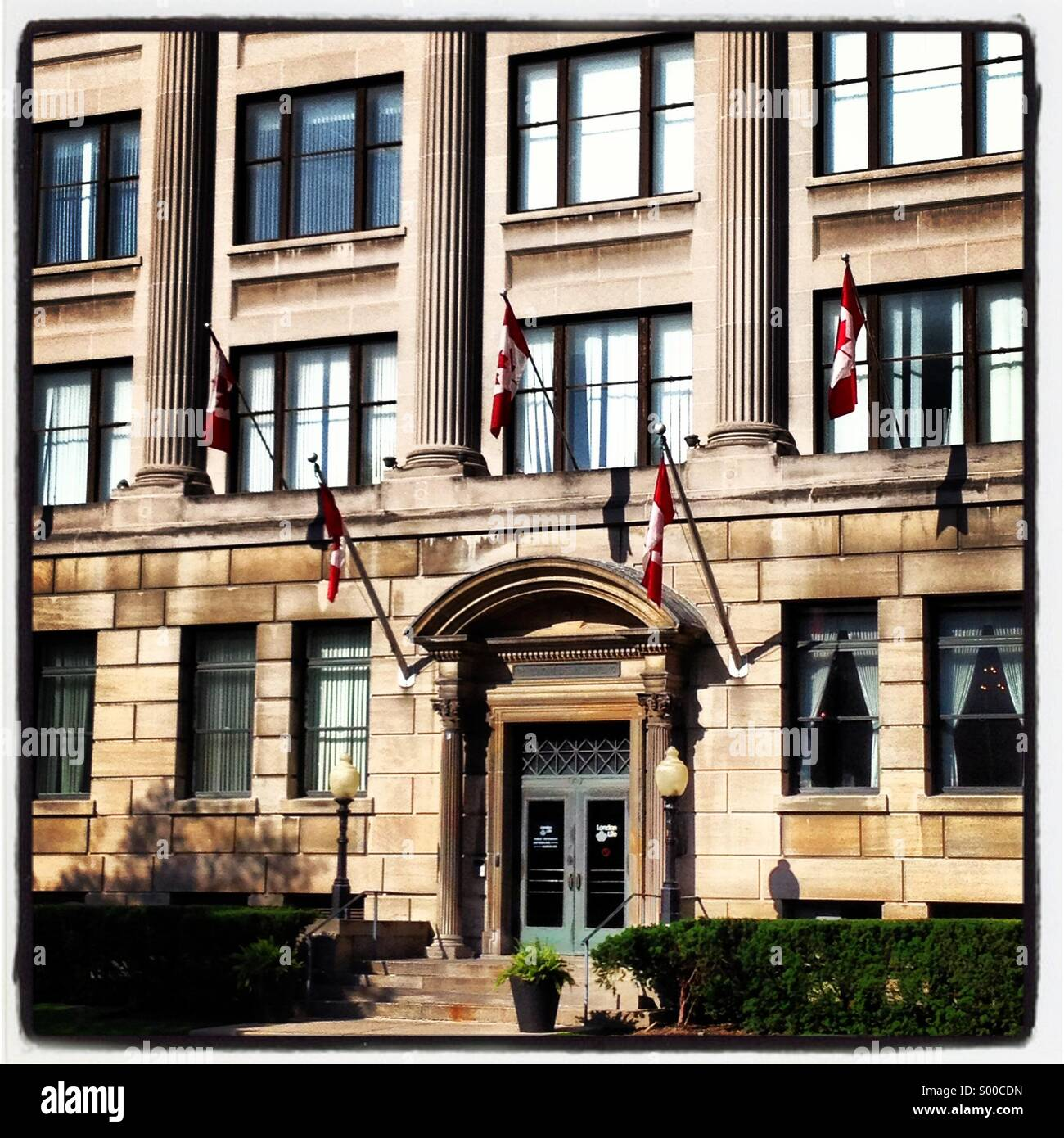 The London Life building in London Ontario, Canada. - Stock Image
