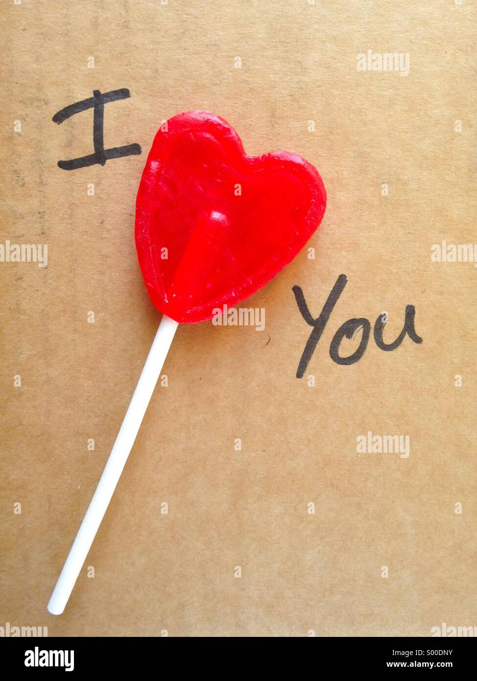 I love you message - Stock Image