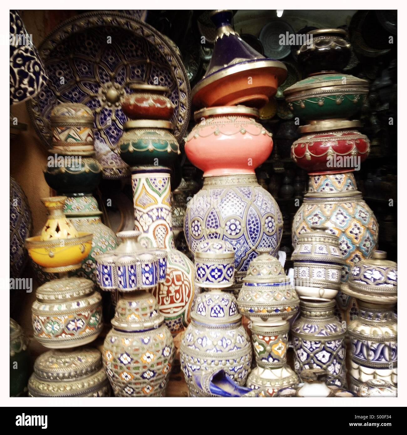 Fez pottery, Morrocco .©Ingetje Tadros - Stock Image