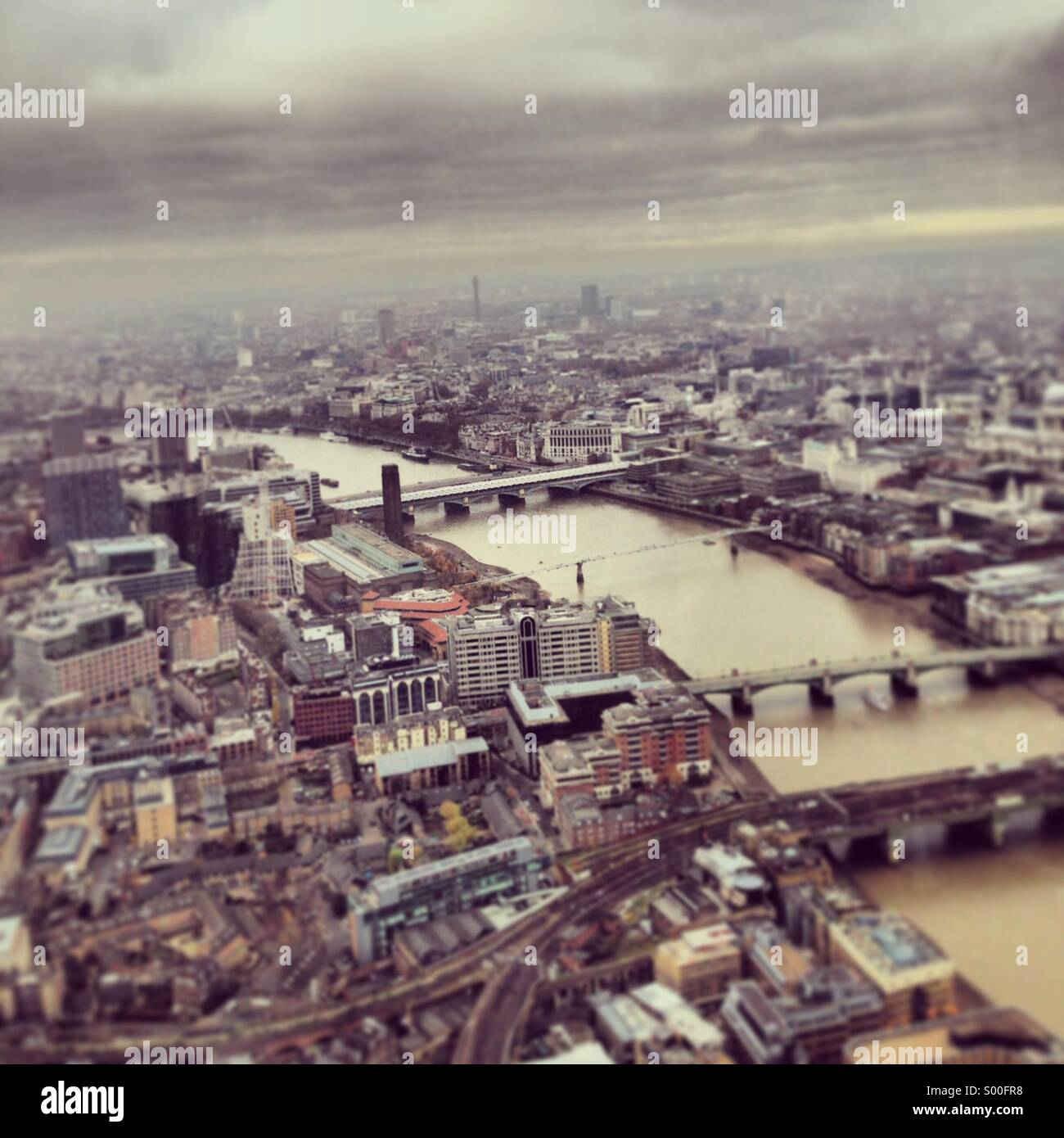 River Thames, aerial view, looking west - Stock Image