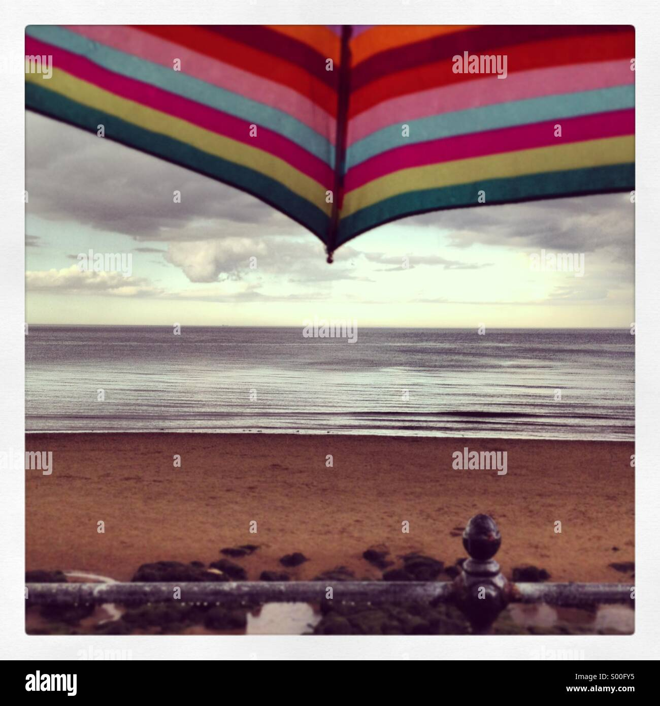 Wet and windy day in Scarborough - Stock Image