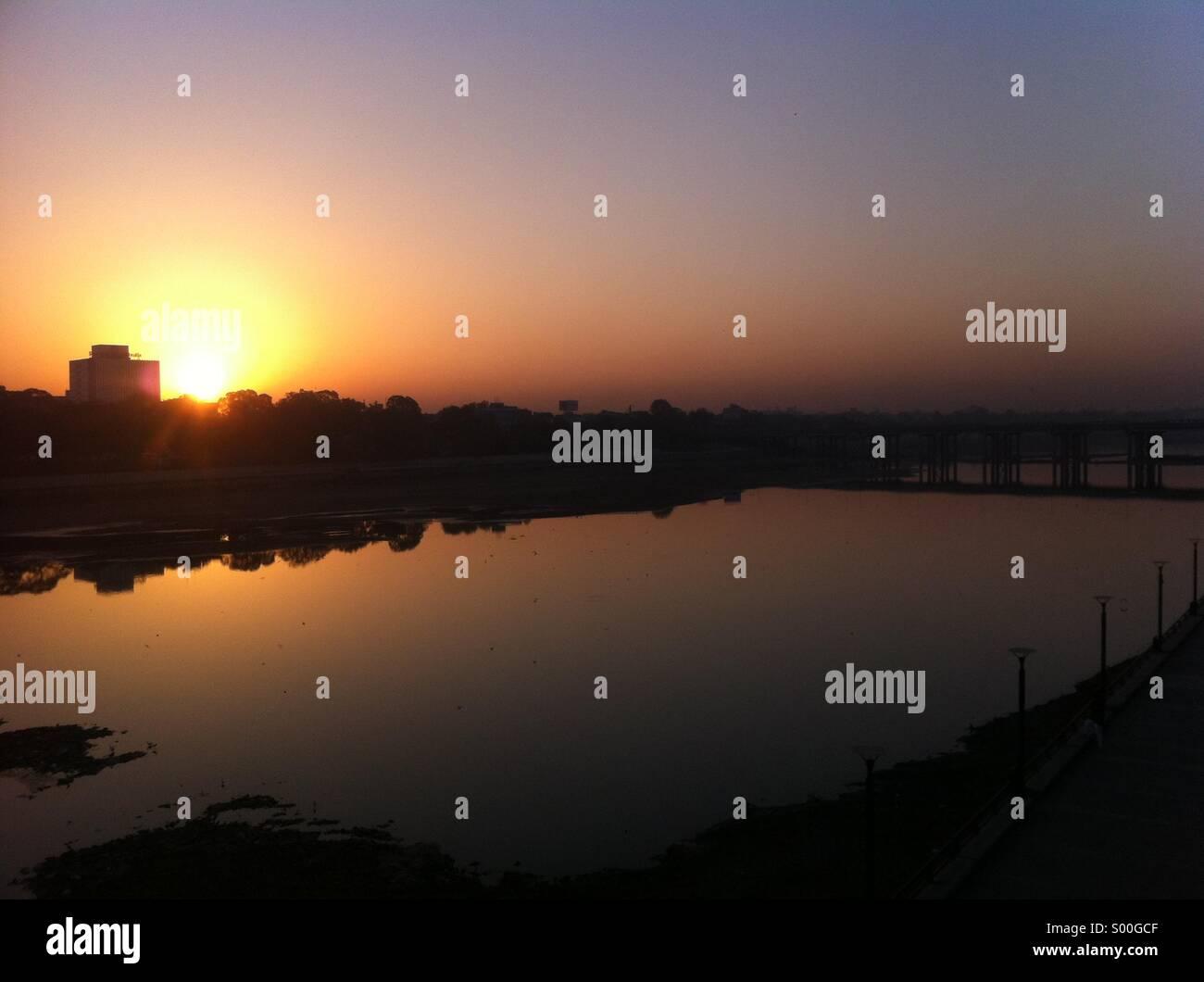 Sunrise at India - Stock Image