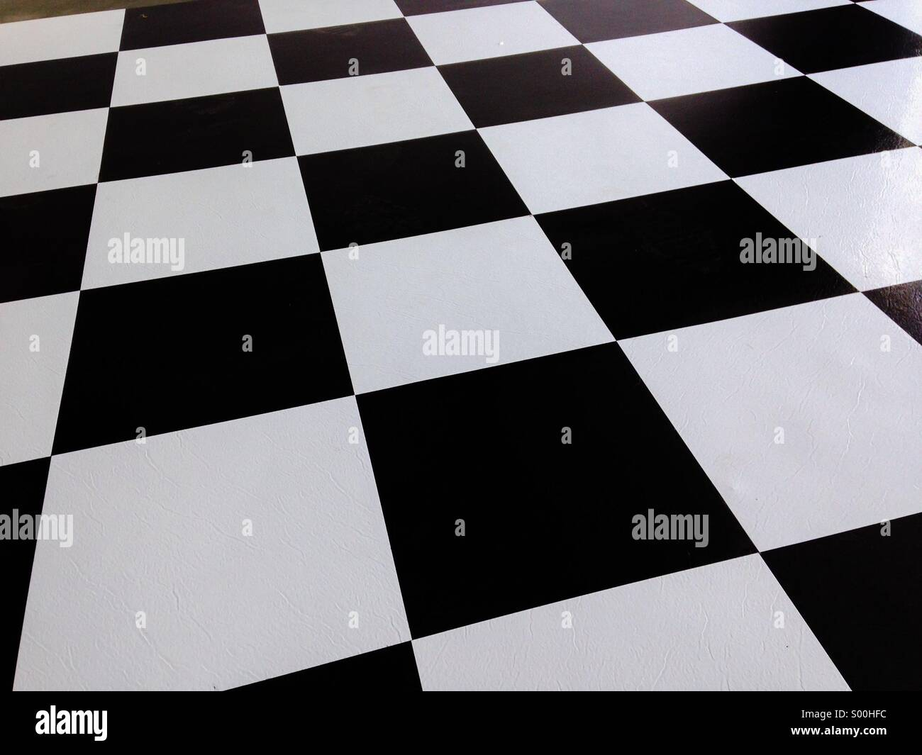 Black and white flooring - Stock Image