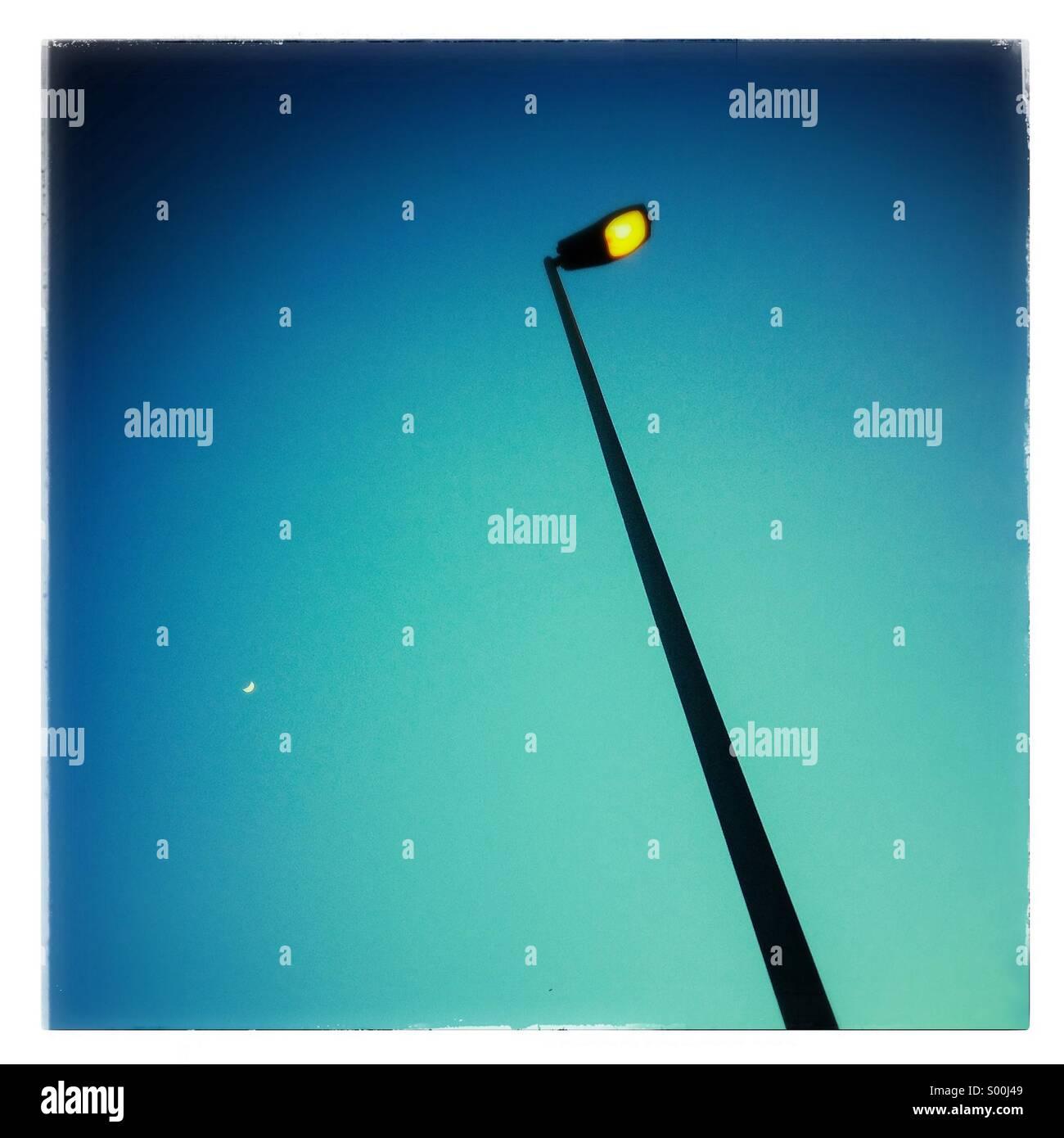 Street lamp post at sunset - Stock Image