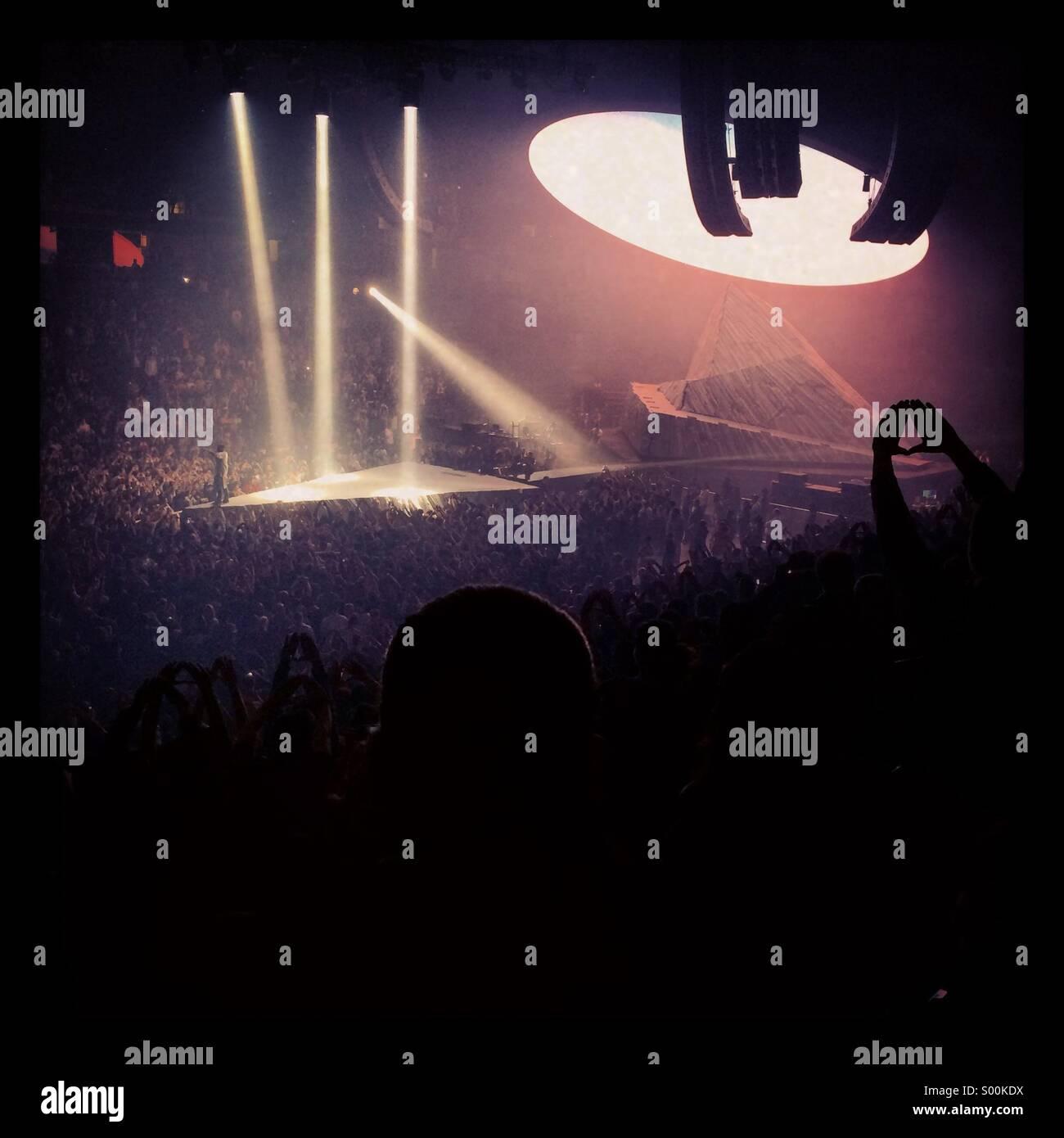 'Diamonda Are Forever' Kanye West Yeezus Tour Albany, NY - Stock Image