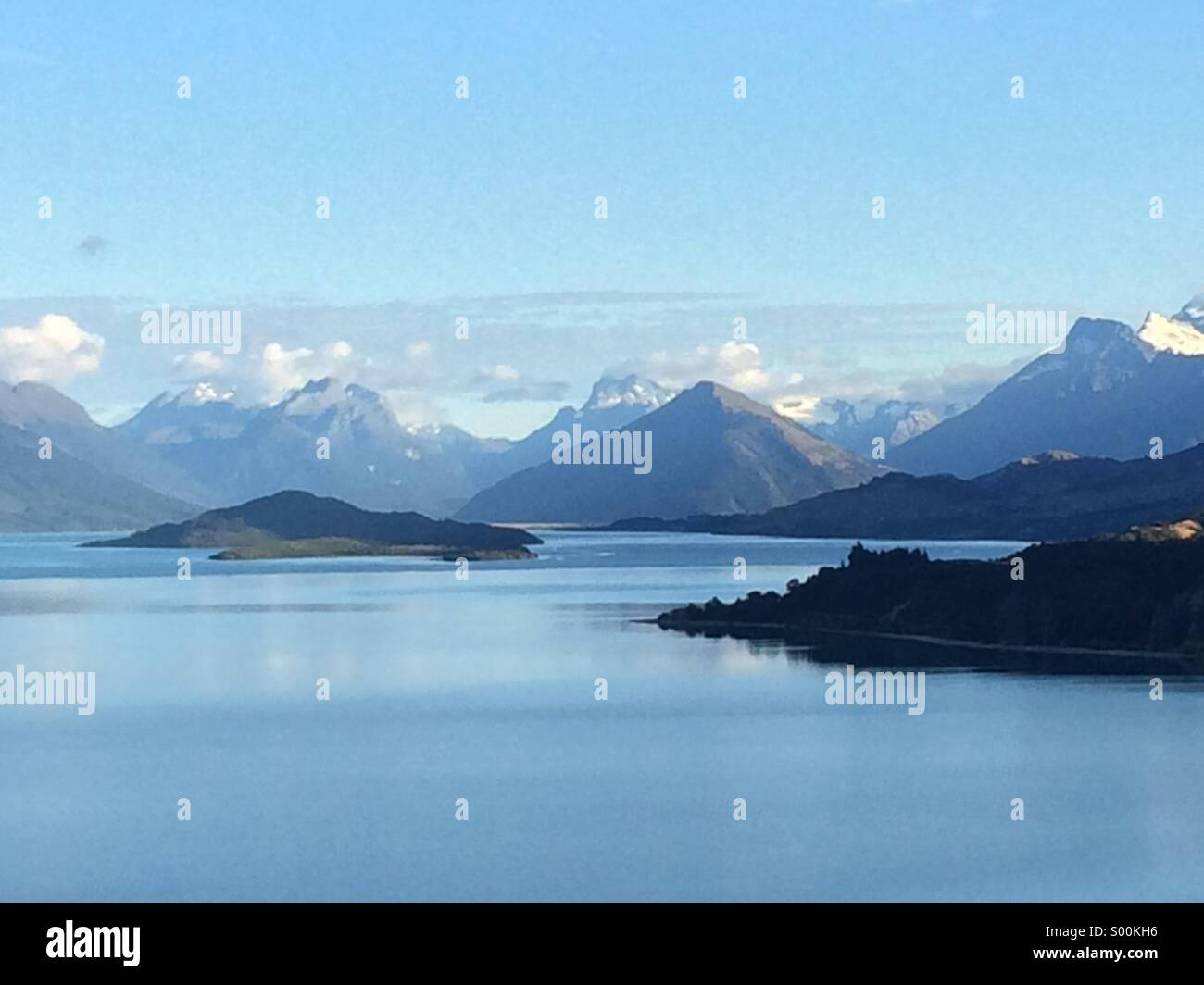 Lake Wakatipu in early morning, New Zealand. - Stock Image
