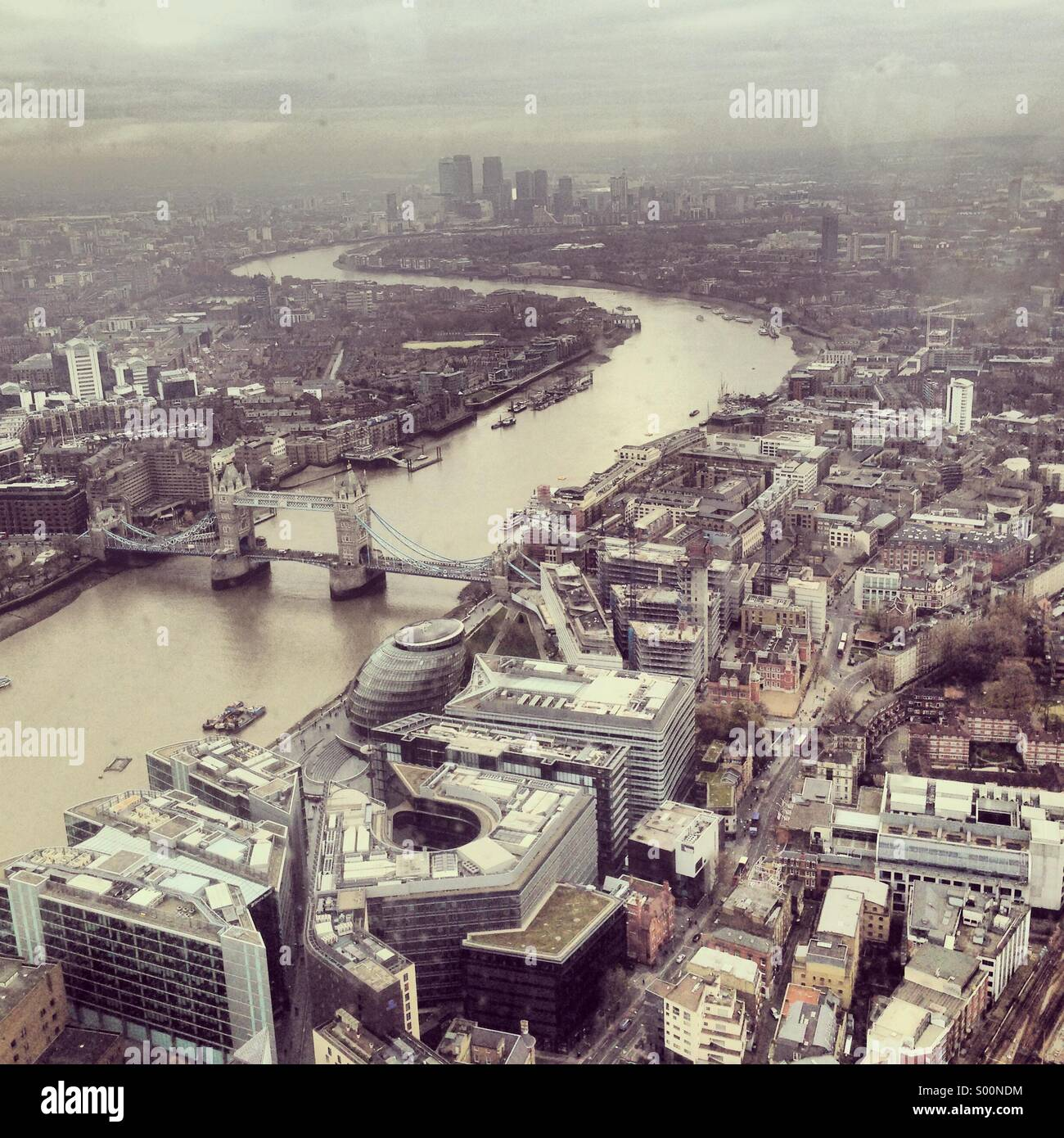 River Thames, aerial view - Stock Image