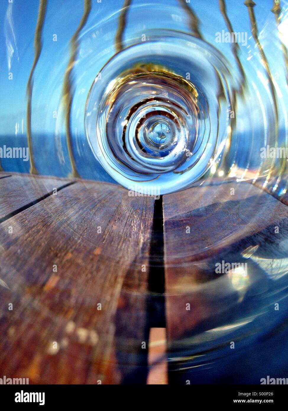 Warped view - Stock Image