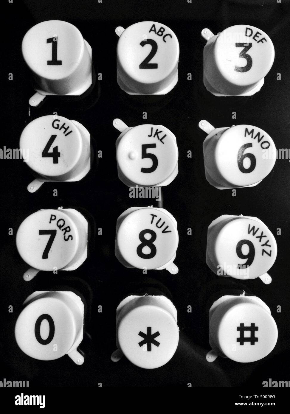 Keypad buttons - Stock Image