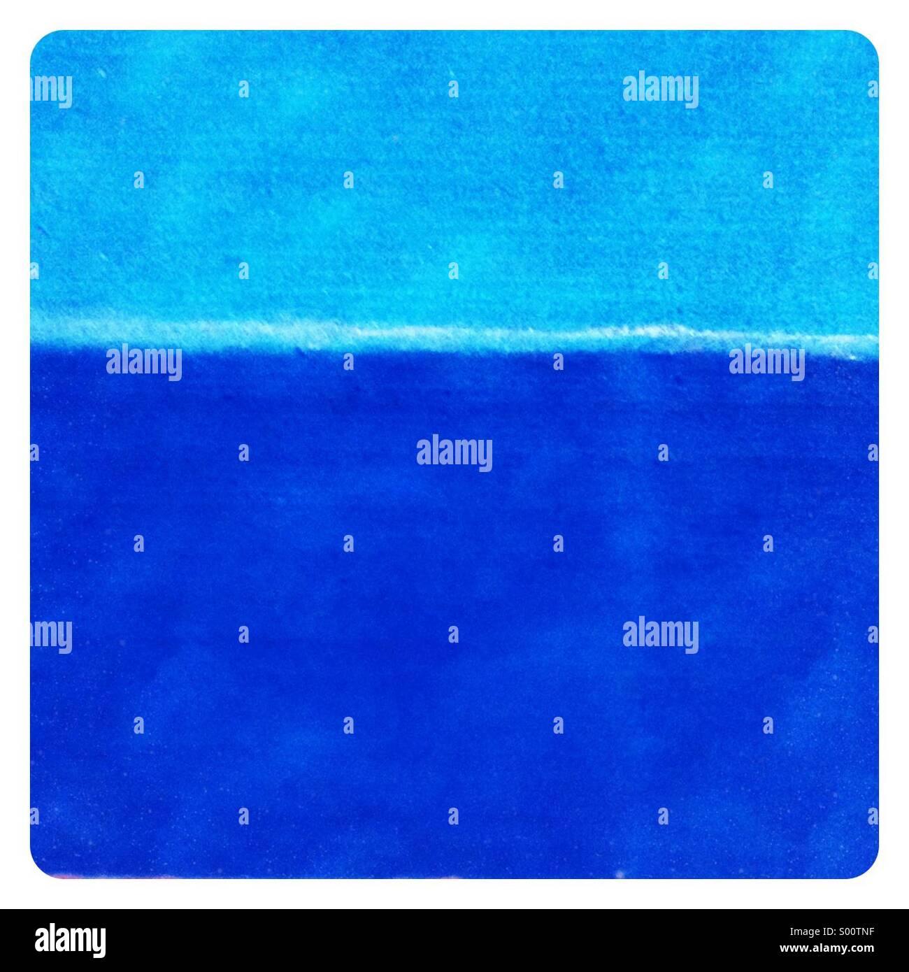 Blue X 2 - Stock Image