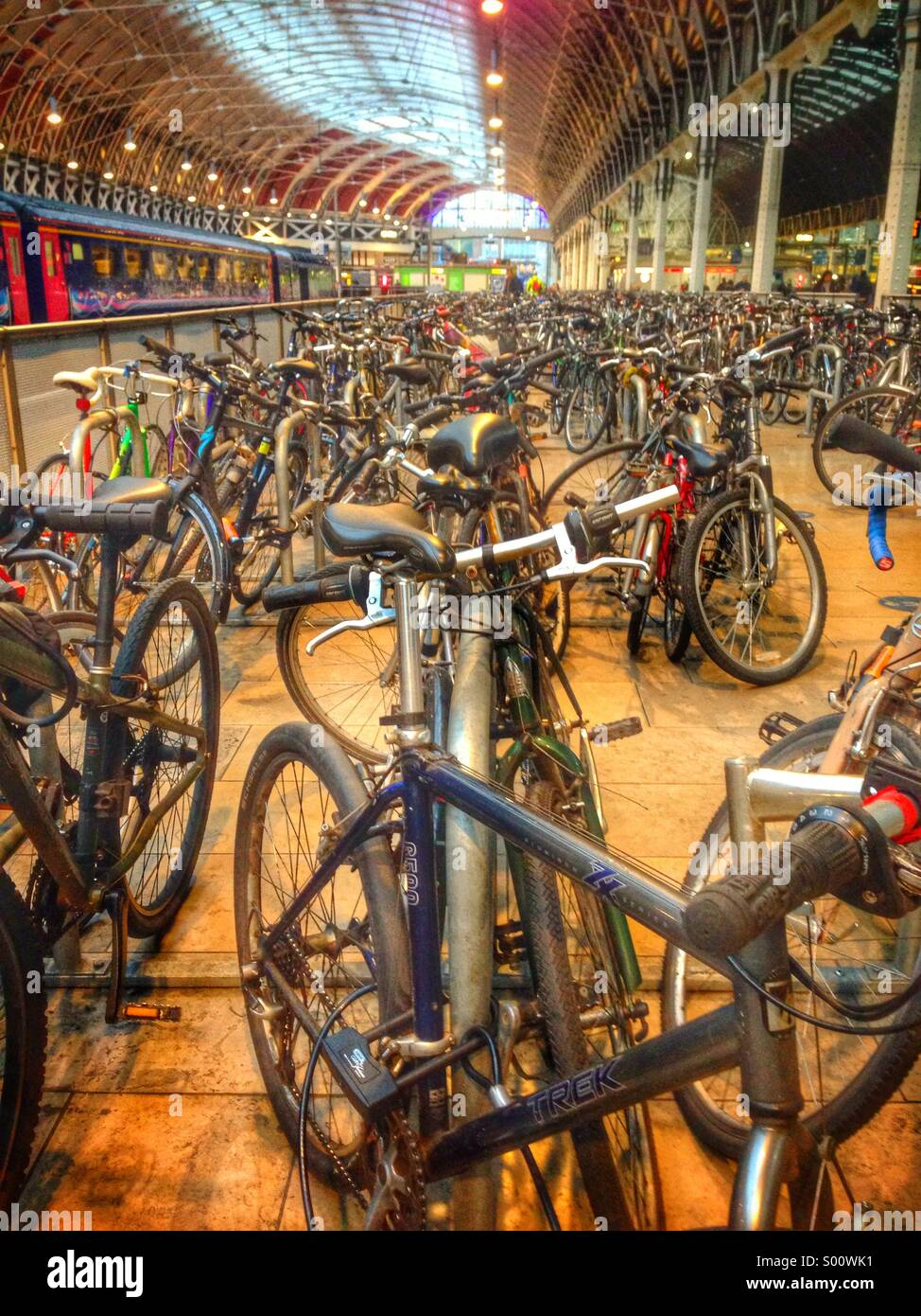 Collection of bicycles - Stock Image