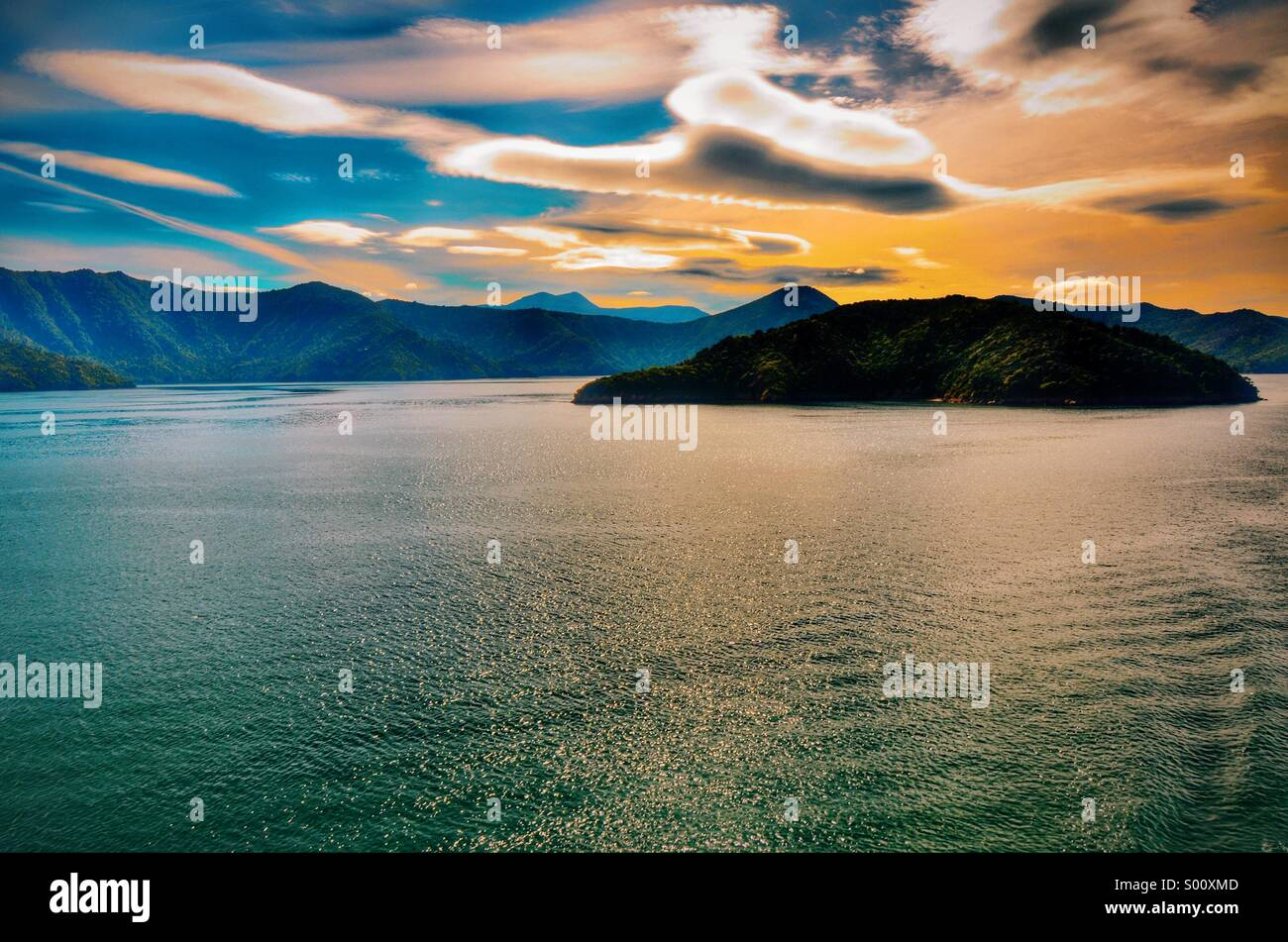 New Zealand Coast - Stock Image