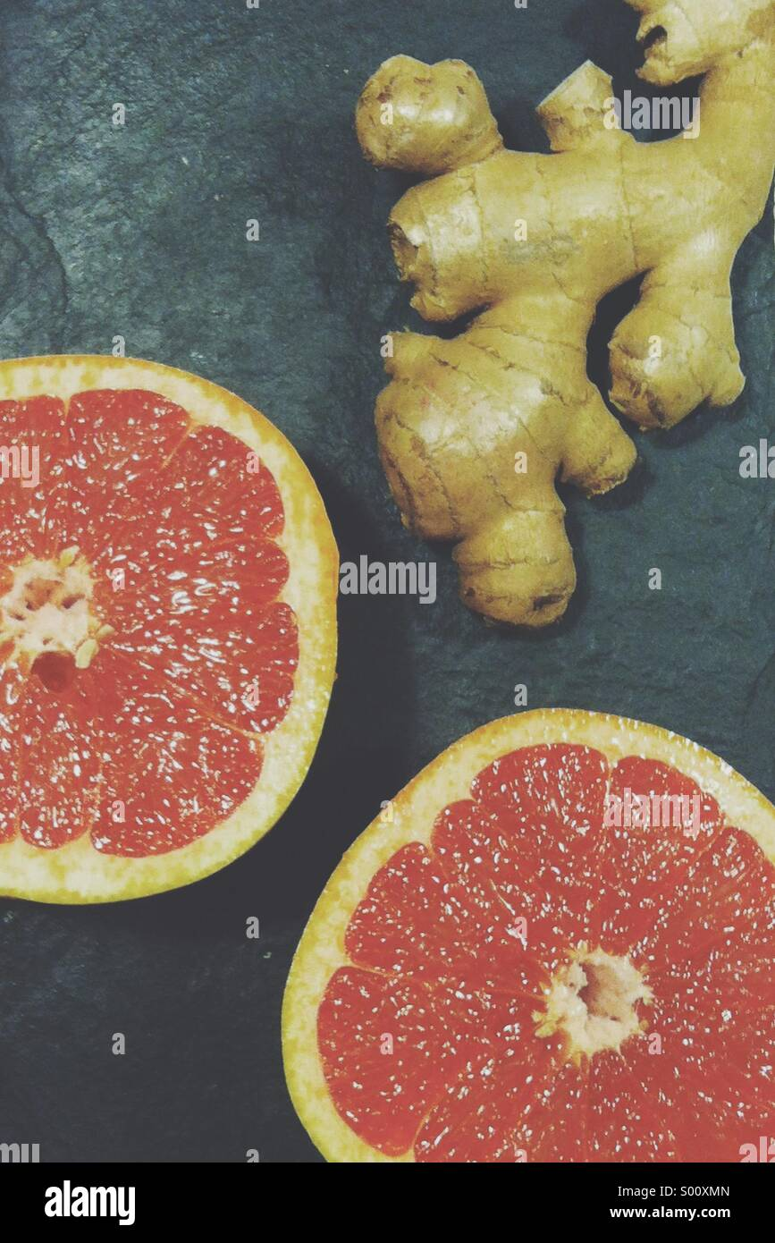 Grapefruit and ginger - Stock Image