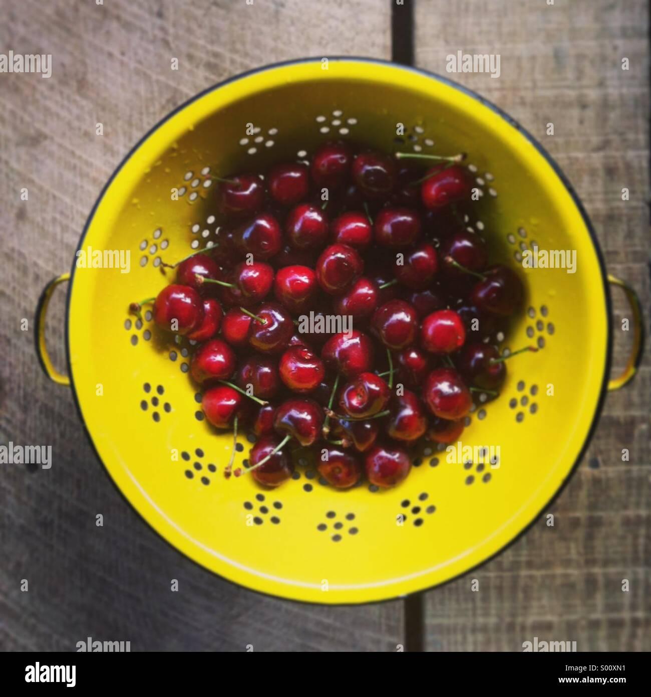 Fresh cherries - Stock Image