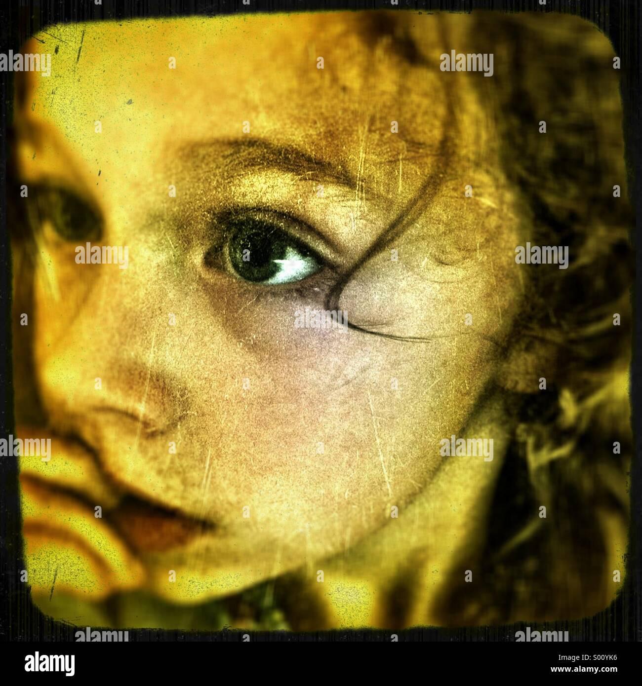 Girls face - Stock Image